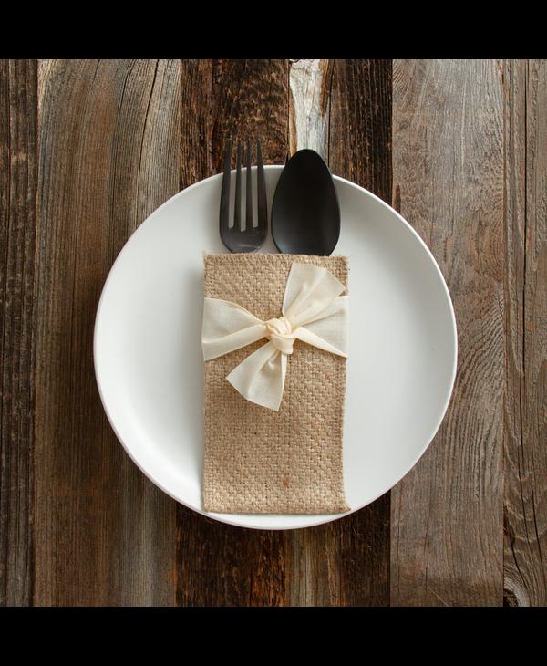 Cream Hand-Tied Ribbon (Set of 8)