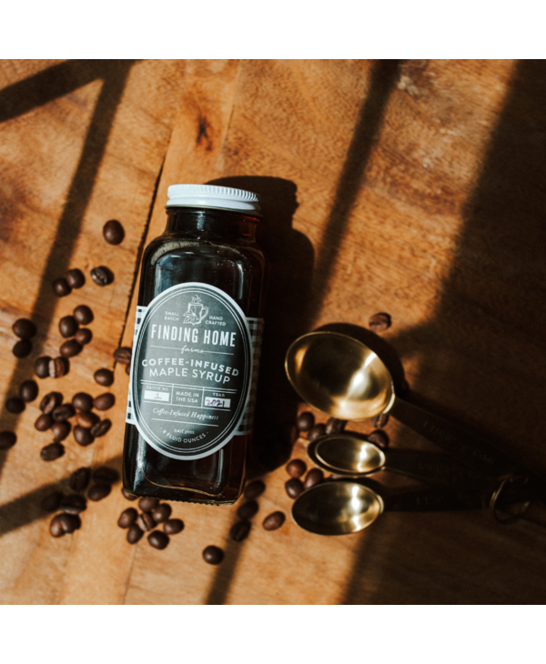 Coffee-Infused Maple Syrup - 8oz