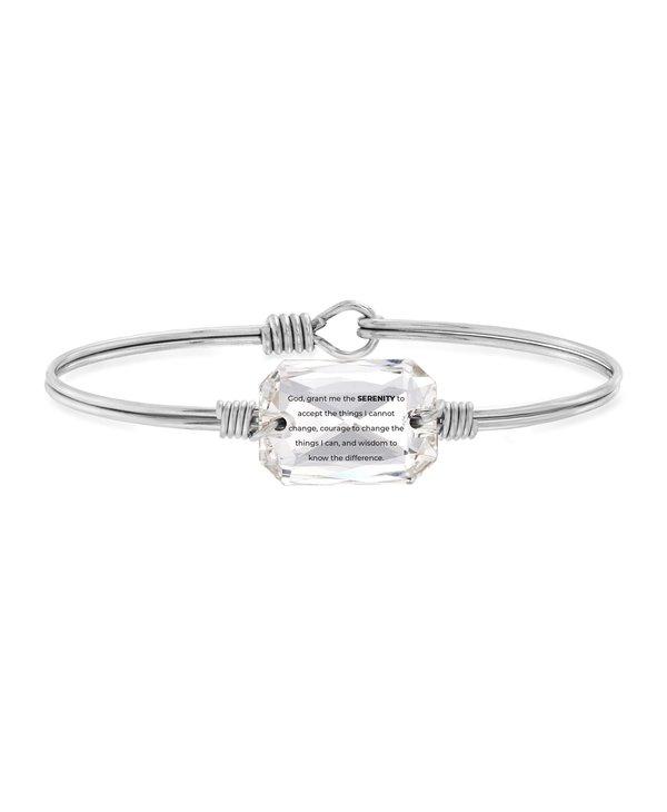 Serenity Prayer Bangle Bracelet in Silver