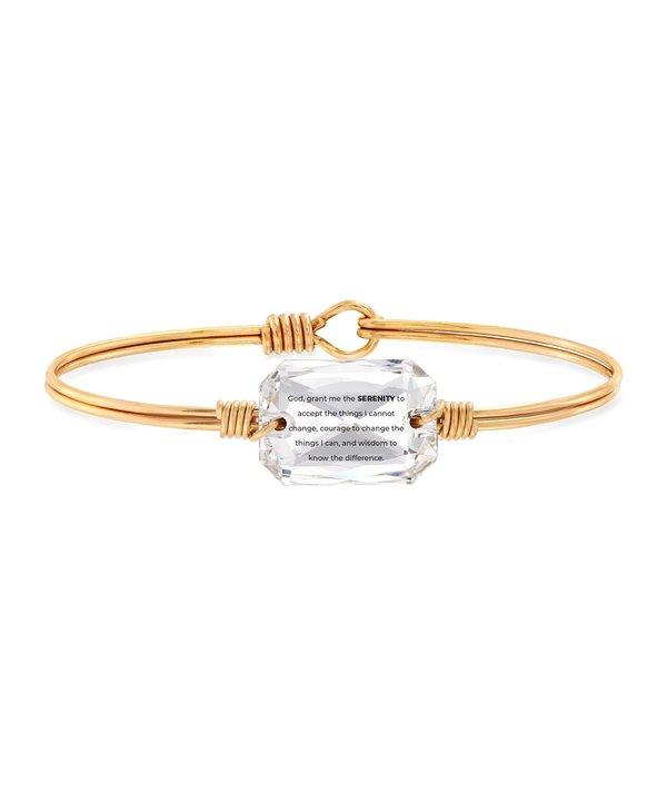 Serenity Prayer Bangle Bracelet in Gold