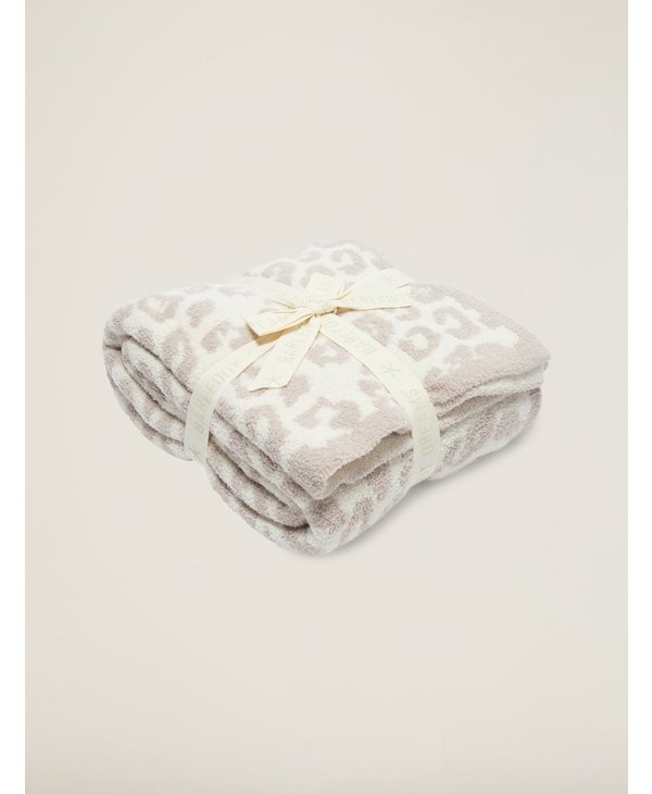 In The Wild Cozy Chic Throw Blanket in Cream/Stone