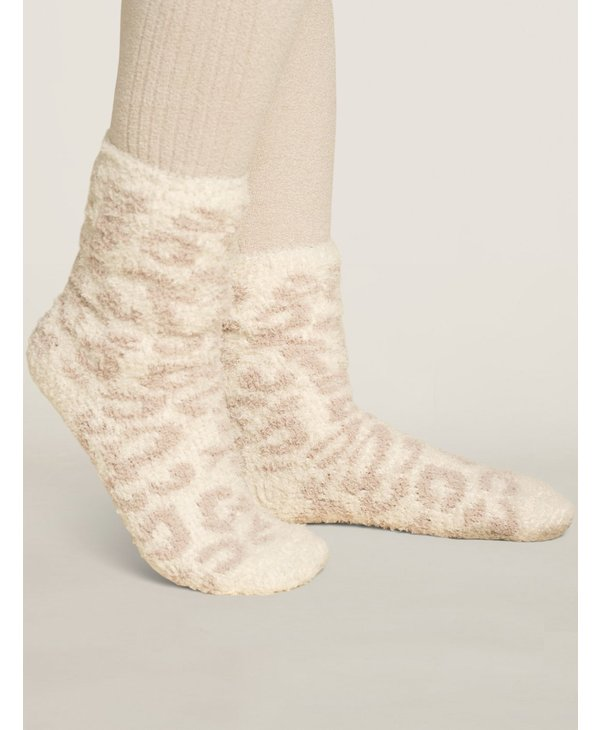 Cozy Chic Women's Barefoot In The Wild Socks in Cream/Stone
