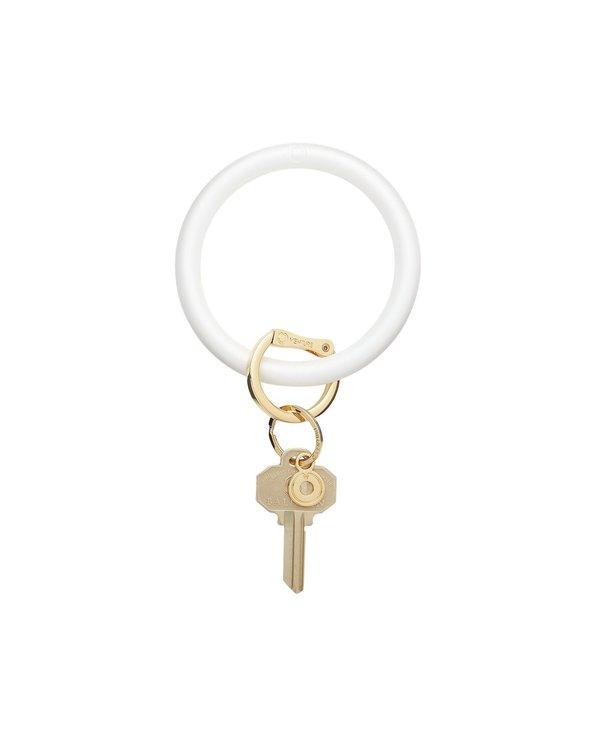 Silicone Big O Key Ring in Pearlized Marshmello