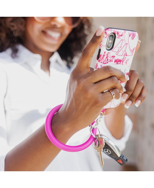 Silicone Big O Key Ring in Pearlized I Scream Pink