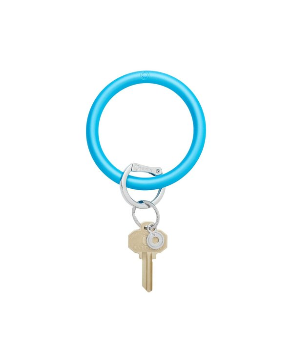 Silicone Big O Key Ring in Pearlized Peacock