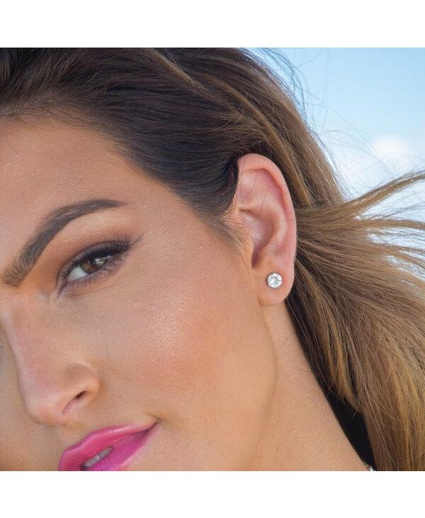 Ultra Mini Bling Stud Earring in Clear
