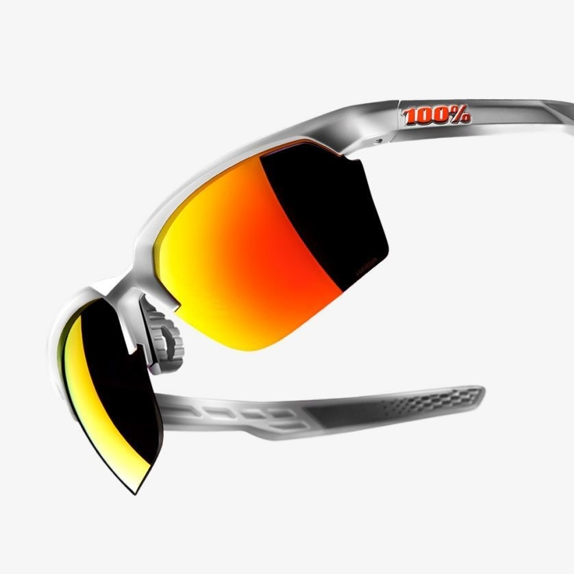 Sportcoupe Matte White Hiper Red Multilayer Mirror Lens-3