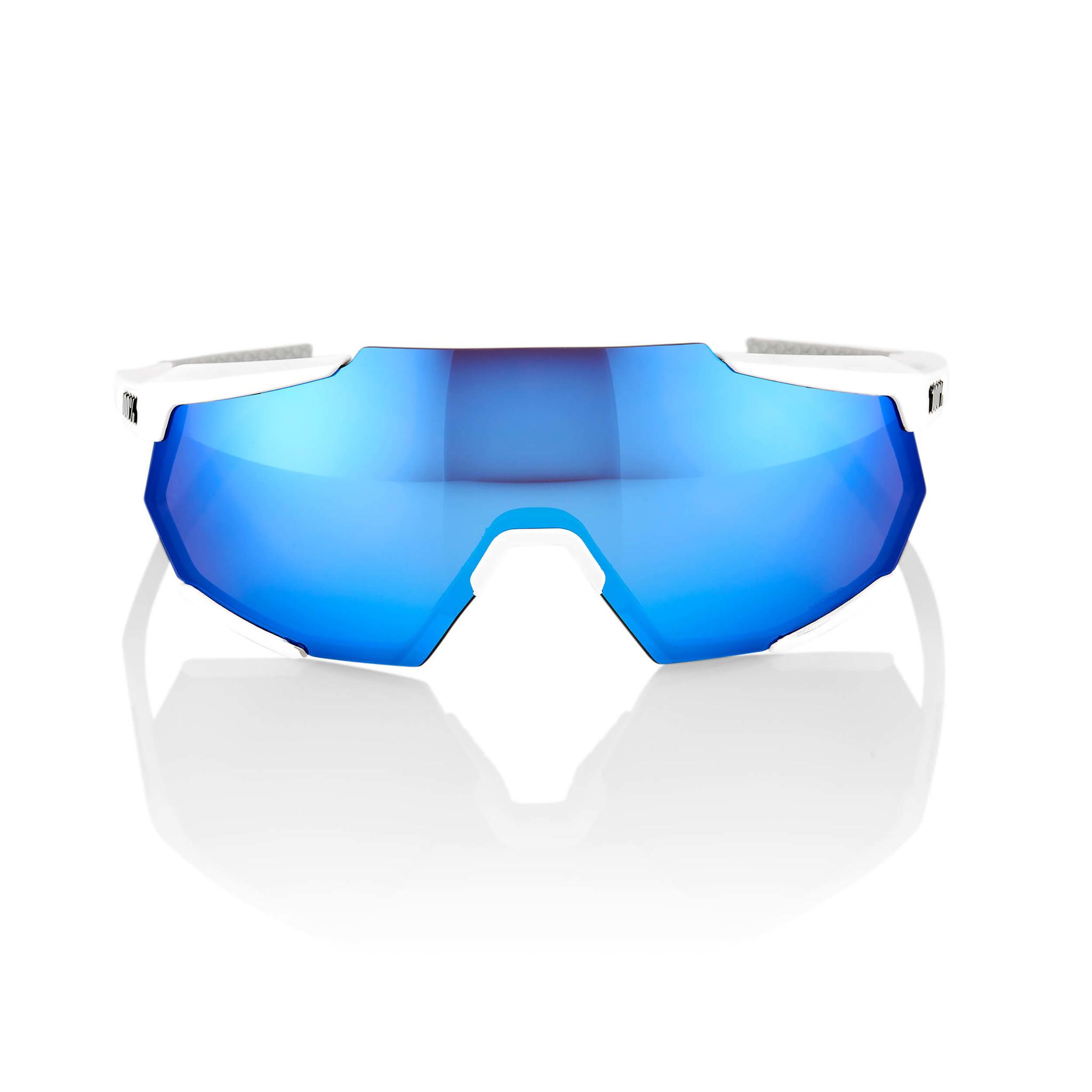 Racetrap Matte White Hiper Blue Multilayer Mirror Lens-3