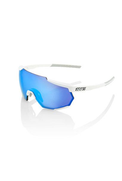 Racetrap Matte White Hiper Blue Multilayer Mirror Lens