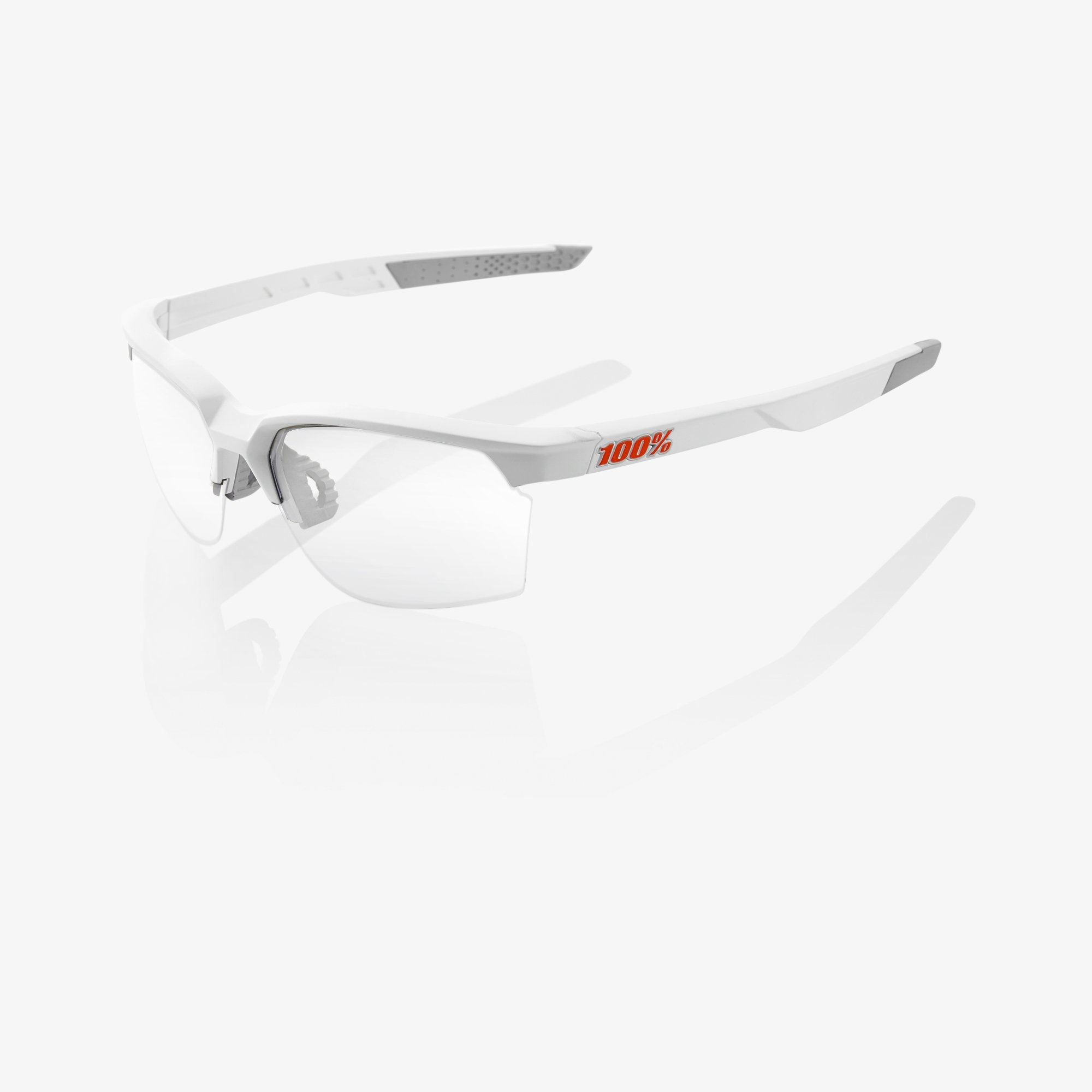 Sportcoupe Matte White Hiper Red Multilayer Mirror Lens-2