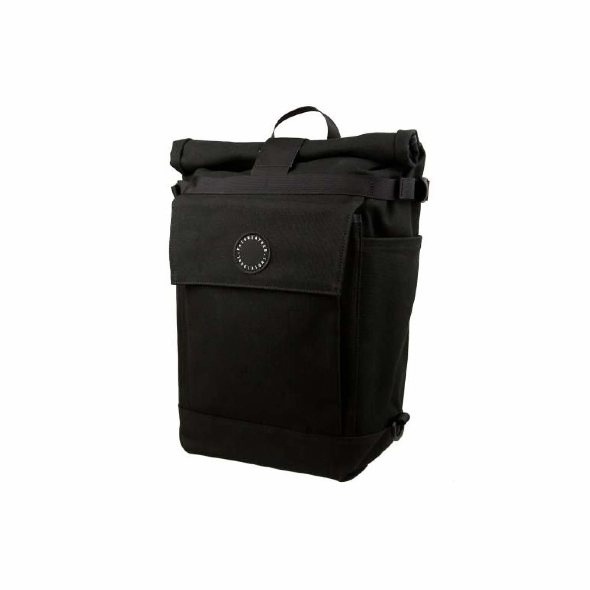 Roll Top Pannier Bag Black-1