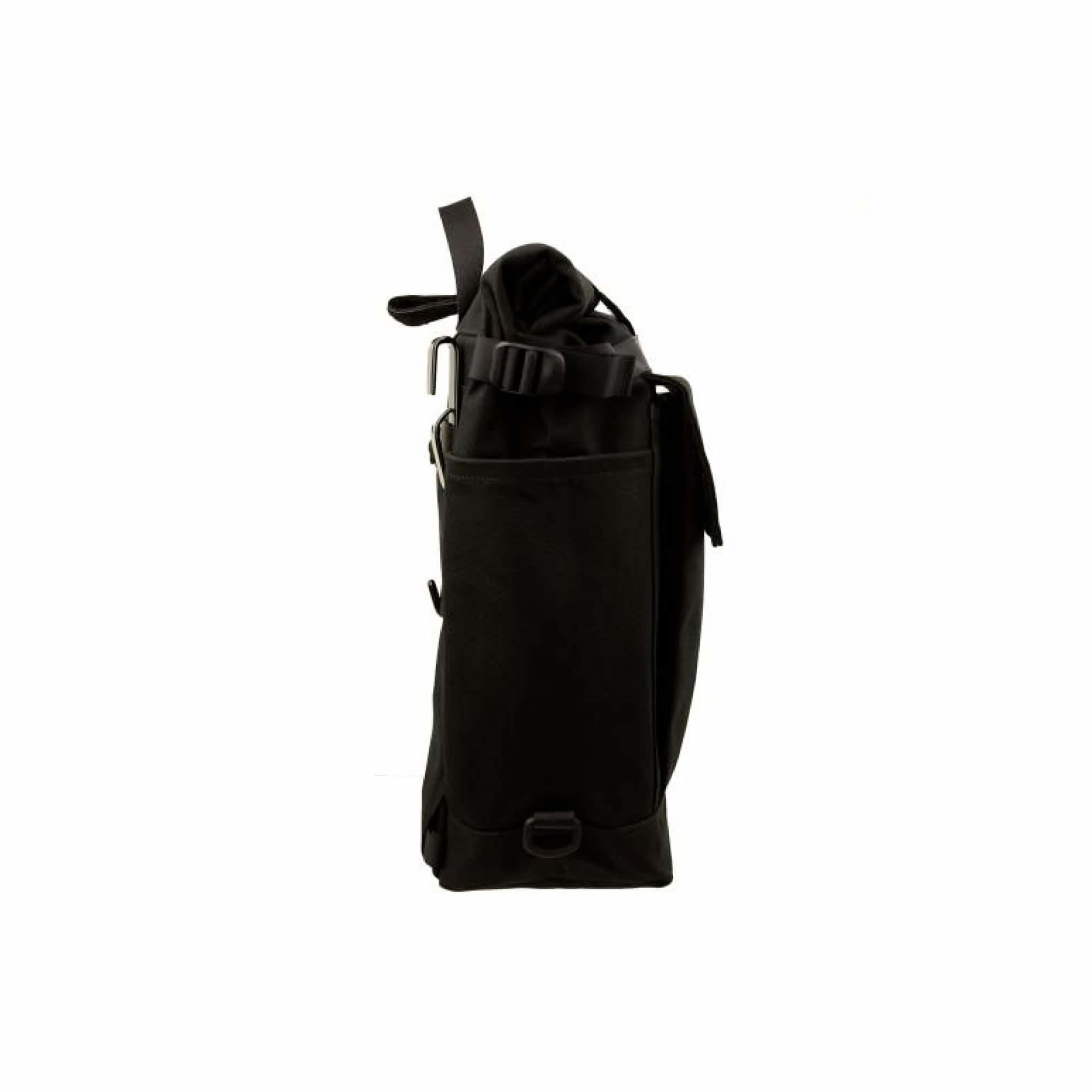 Roll Top Pannier Bag Black-2