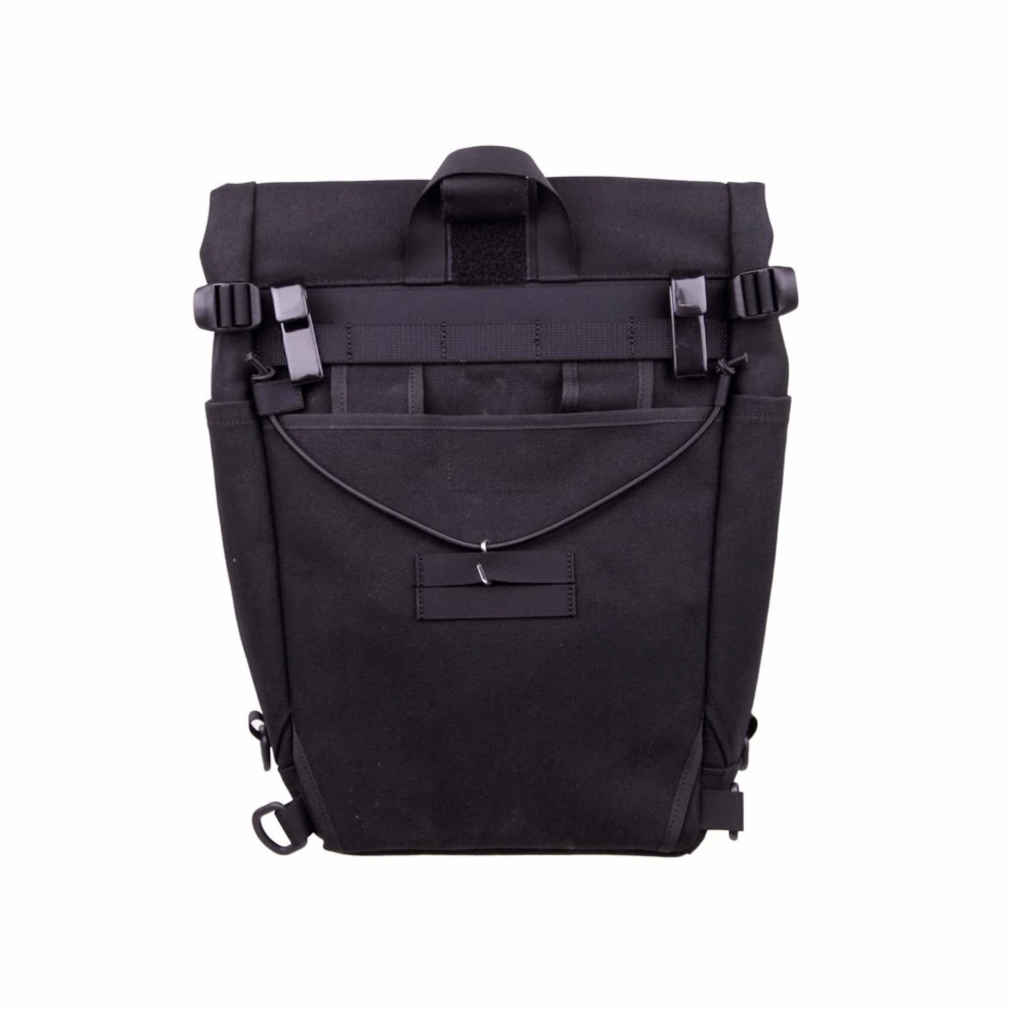 Roll Top Pannier Bag Black-3