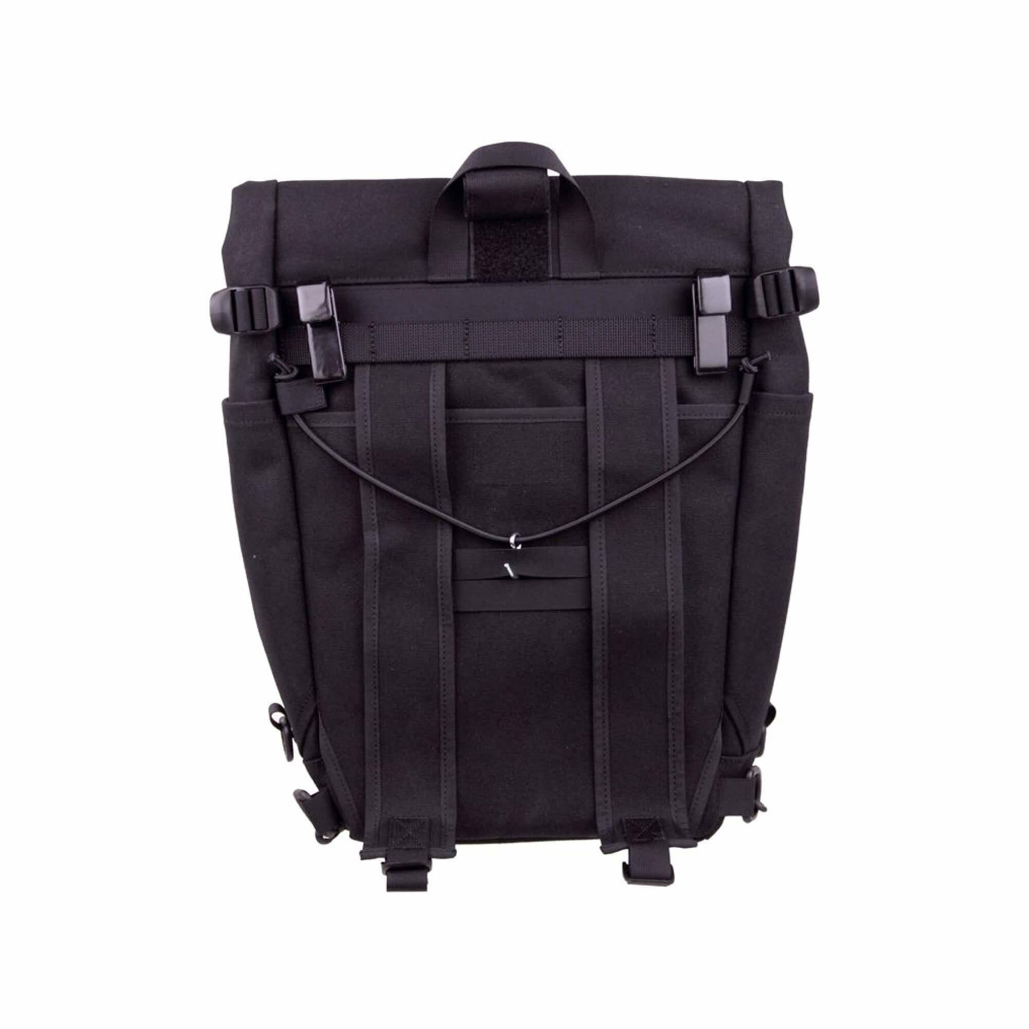 Roll Top Pannier Bag Black-4