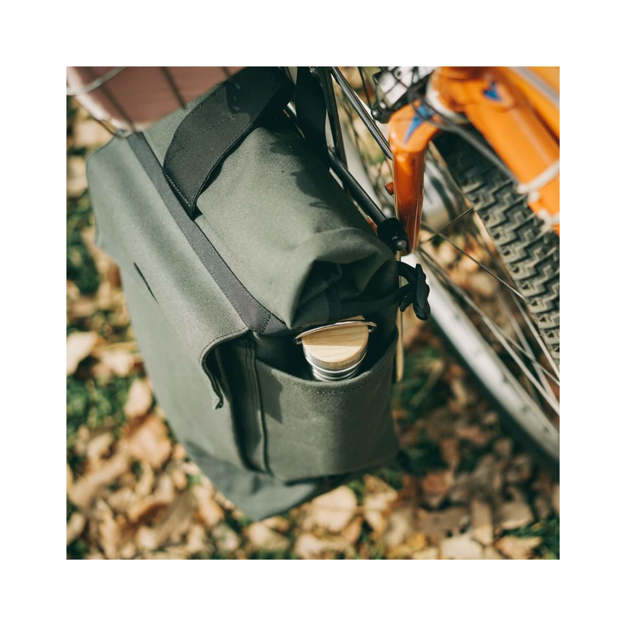 Roll Top Pannier Bag Black-7