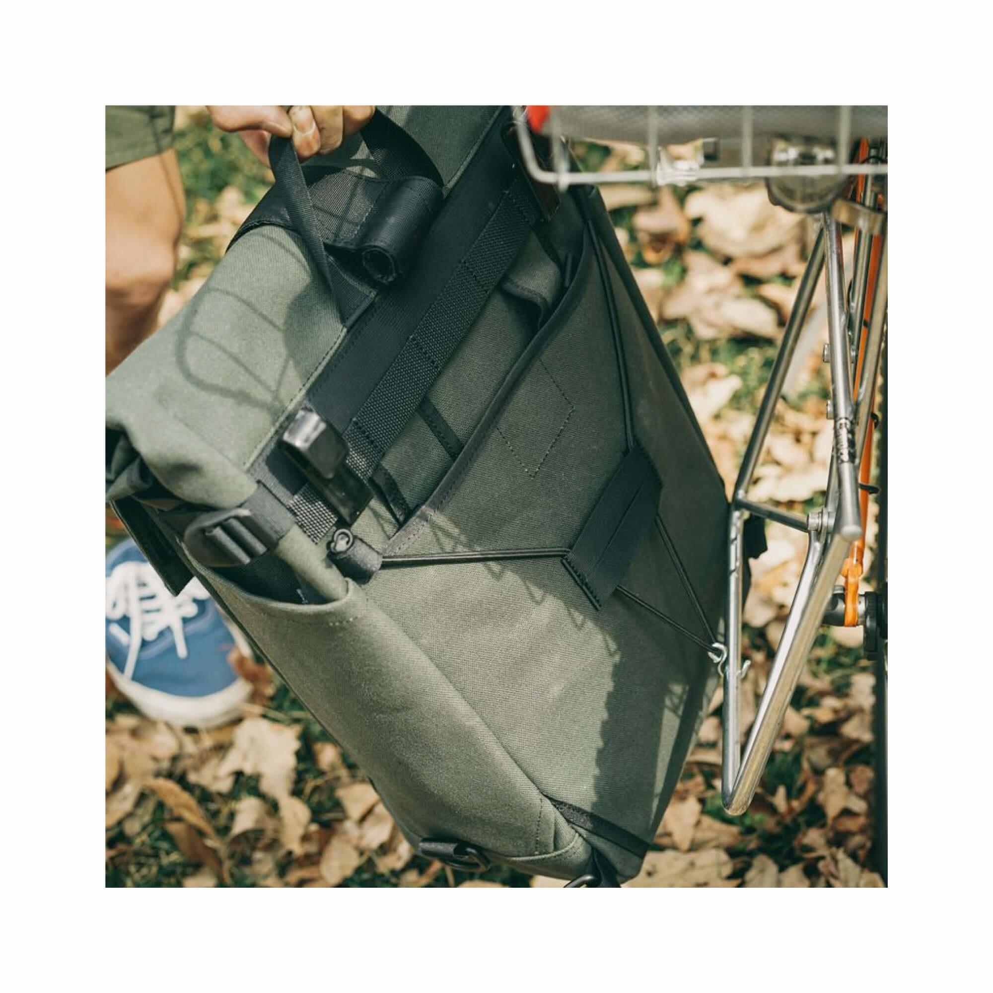 Roll Top Pannier Bag Black-8