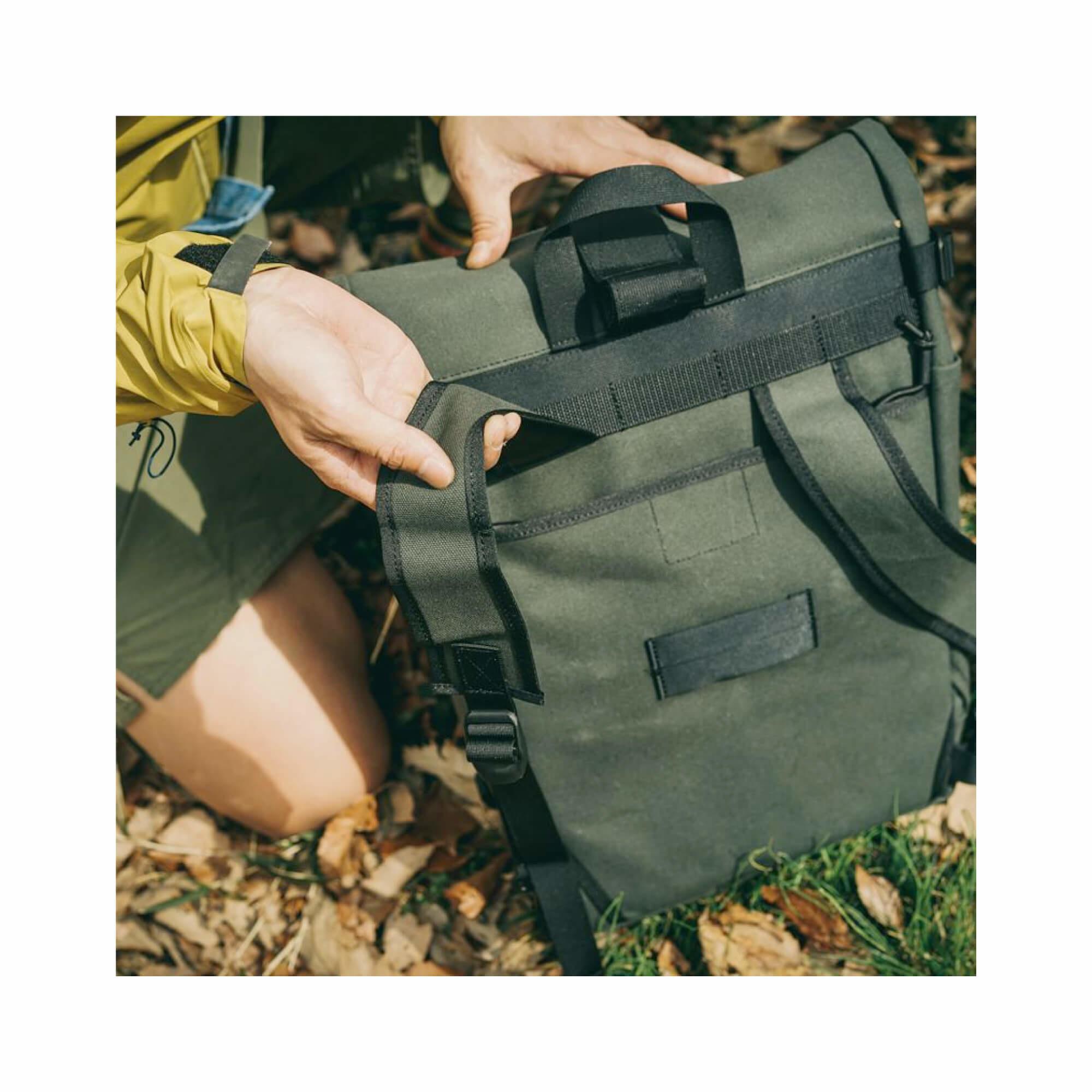 Roll Top Pannier Bag Black-9