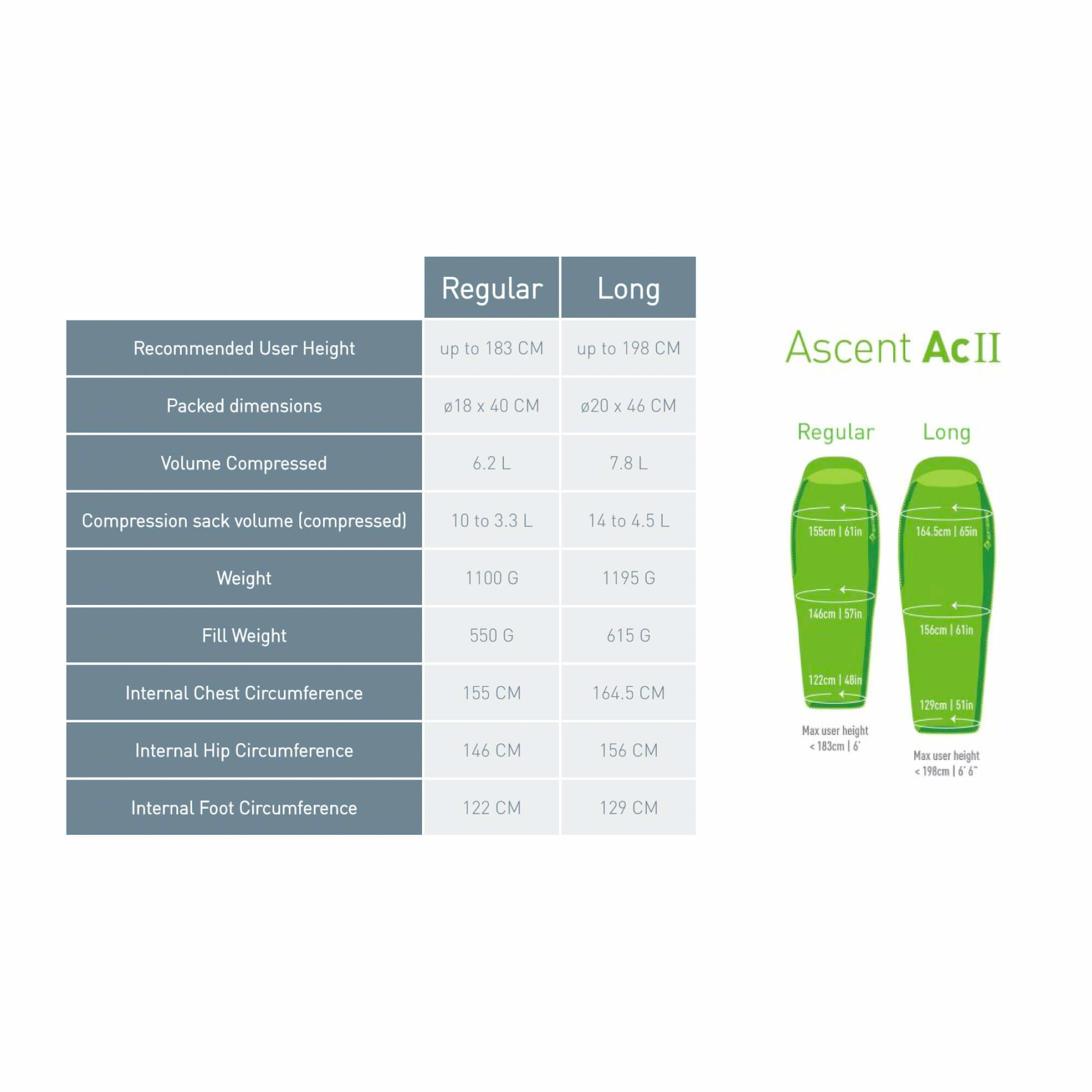 Ascent ACII Regular Left ZIP-12