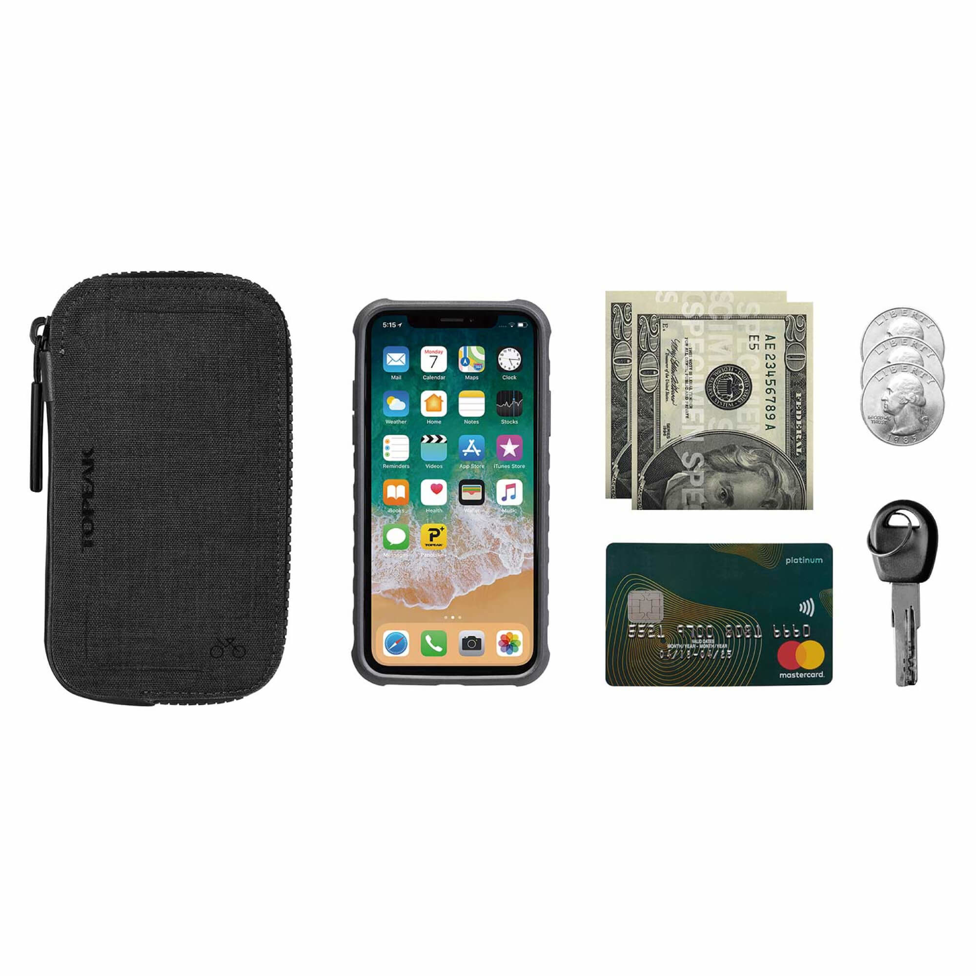 "Cycling Wallet 4.7"", Black-5"