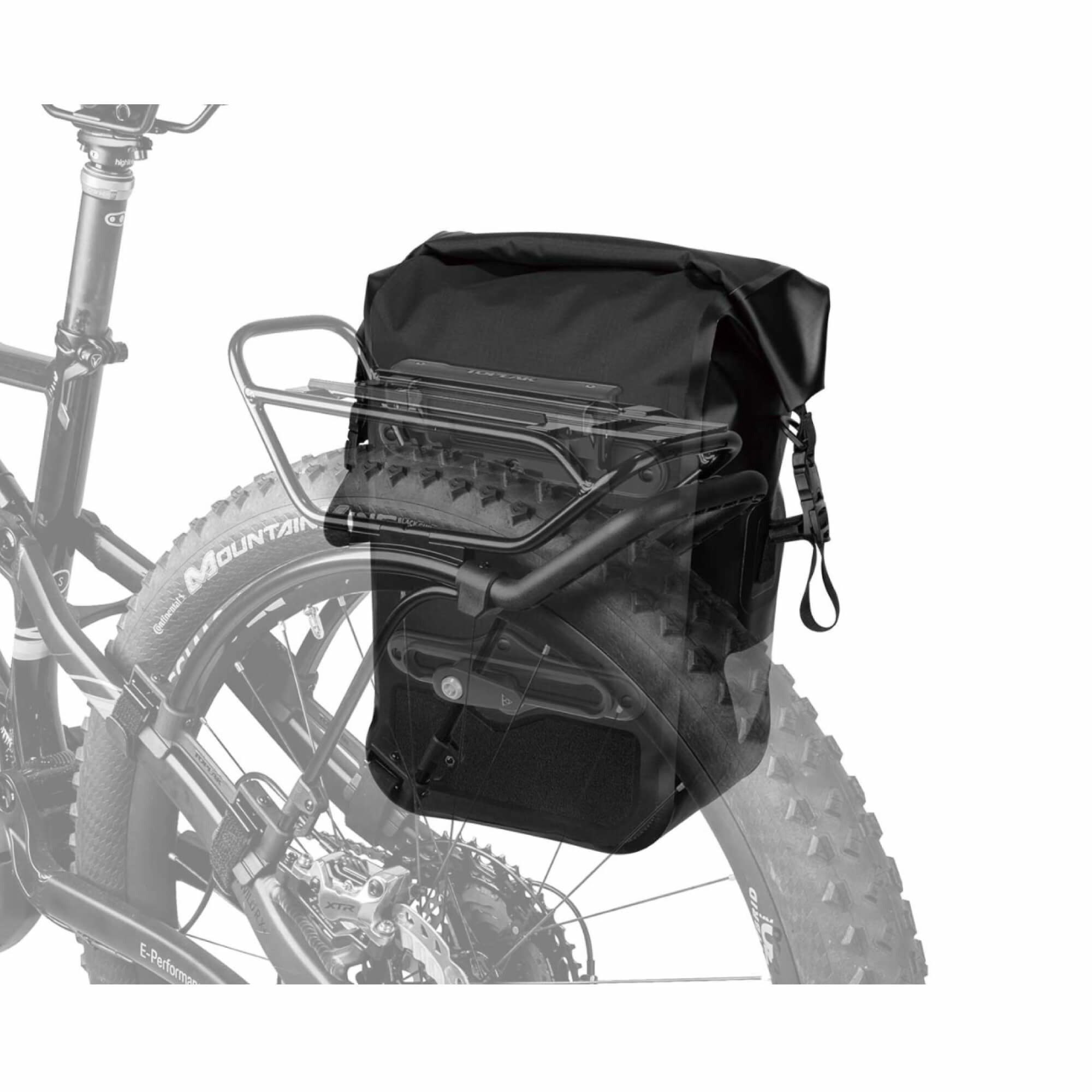 Pannier Drybag 20L One Piece Black-4