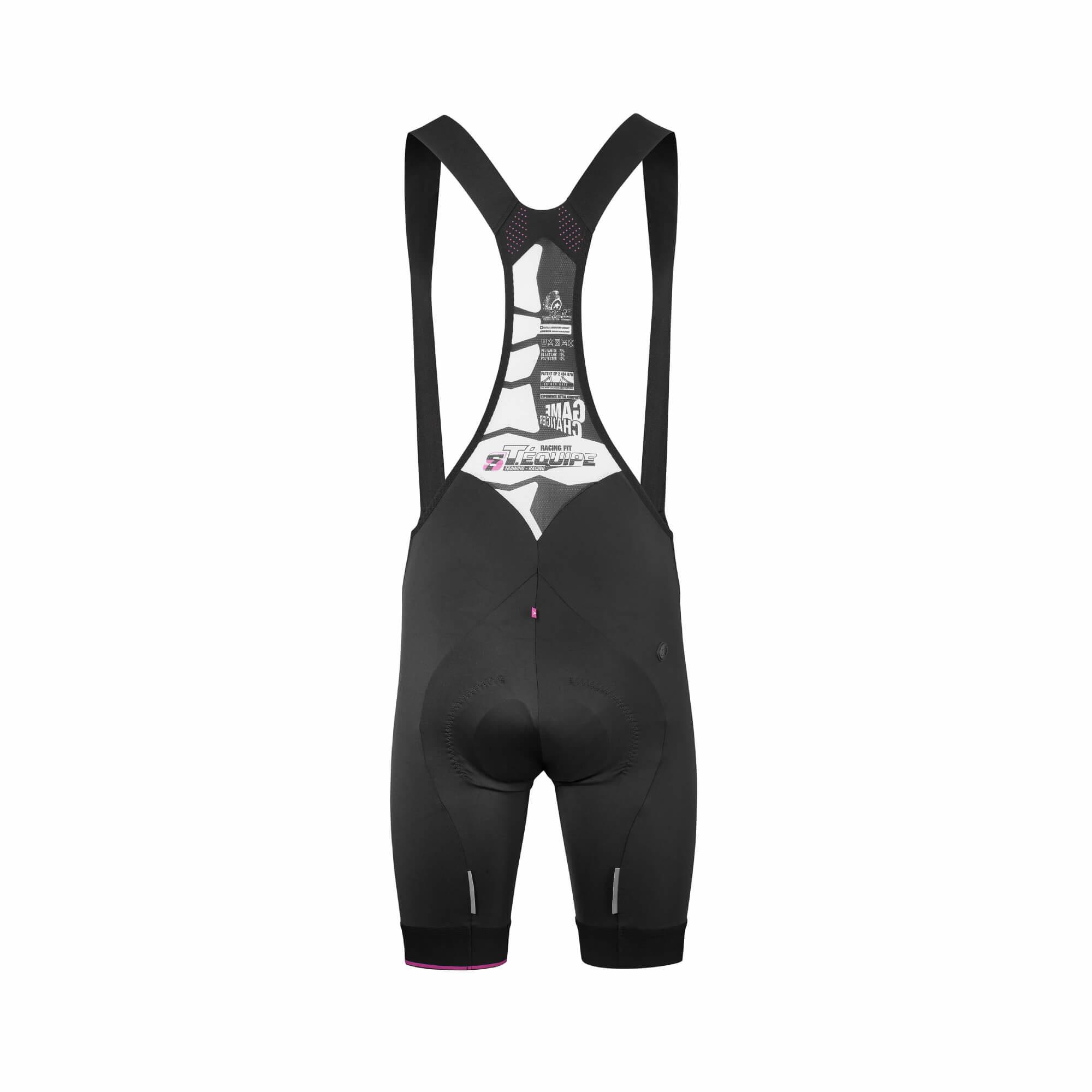 T.Equipe S7 Black Volkanga Bib Shorts-3