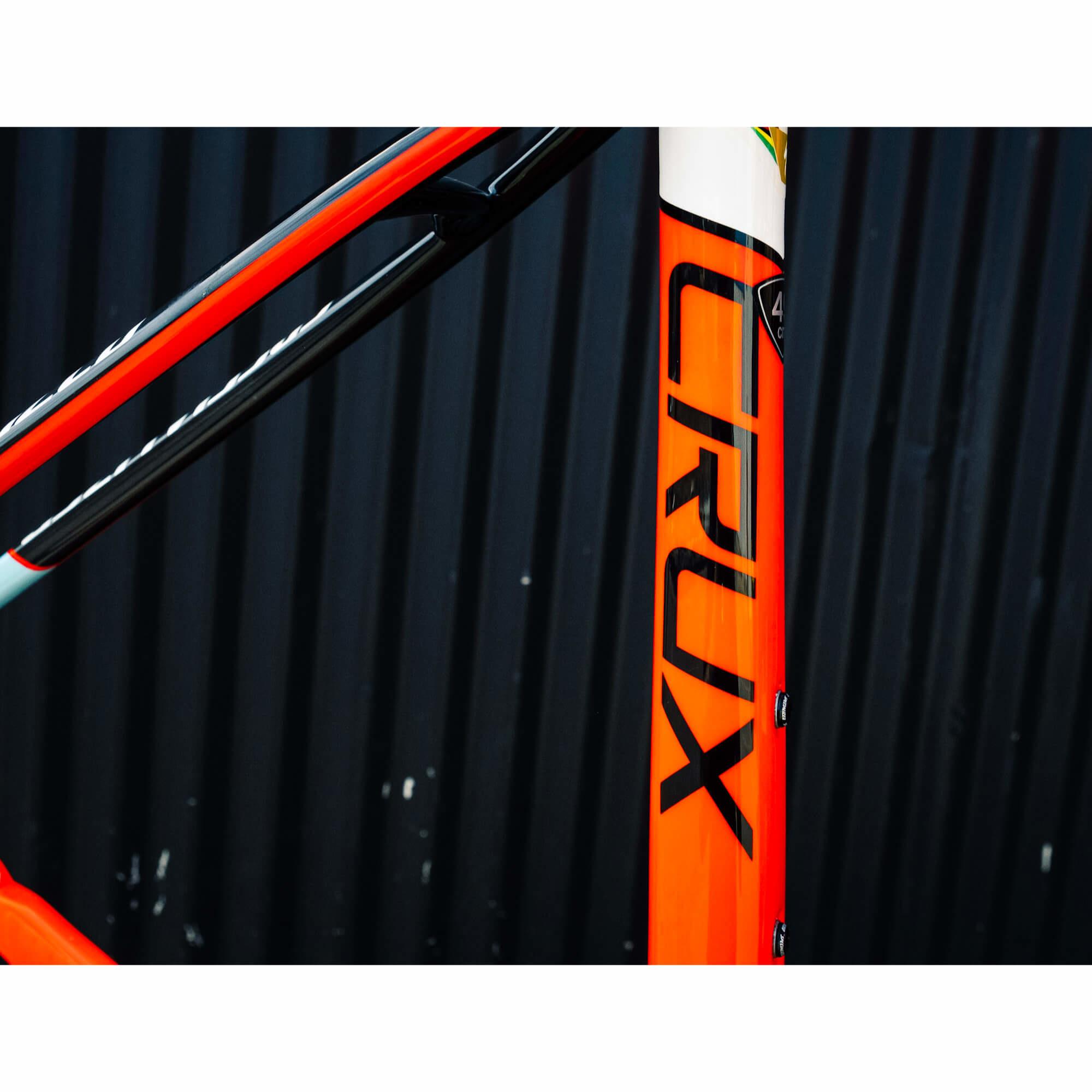 Crux Expert X1 Frame Carb/Rktred/Wht/Ltblu 49cm 2016-3