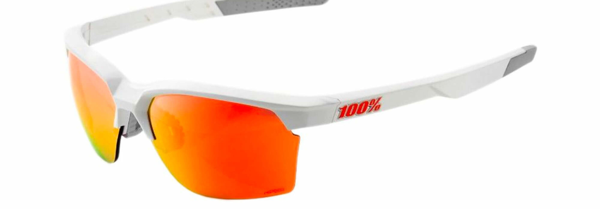 Sportcoupe Matte White Hiper Red Multilayer Mirror Lens