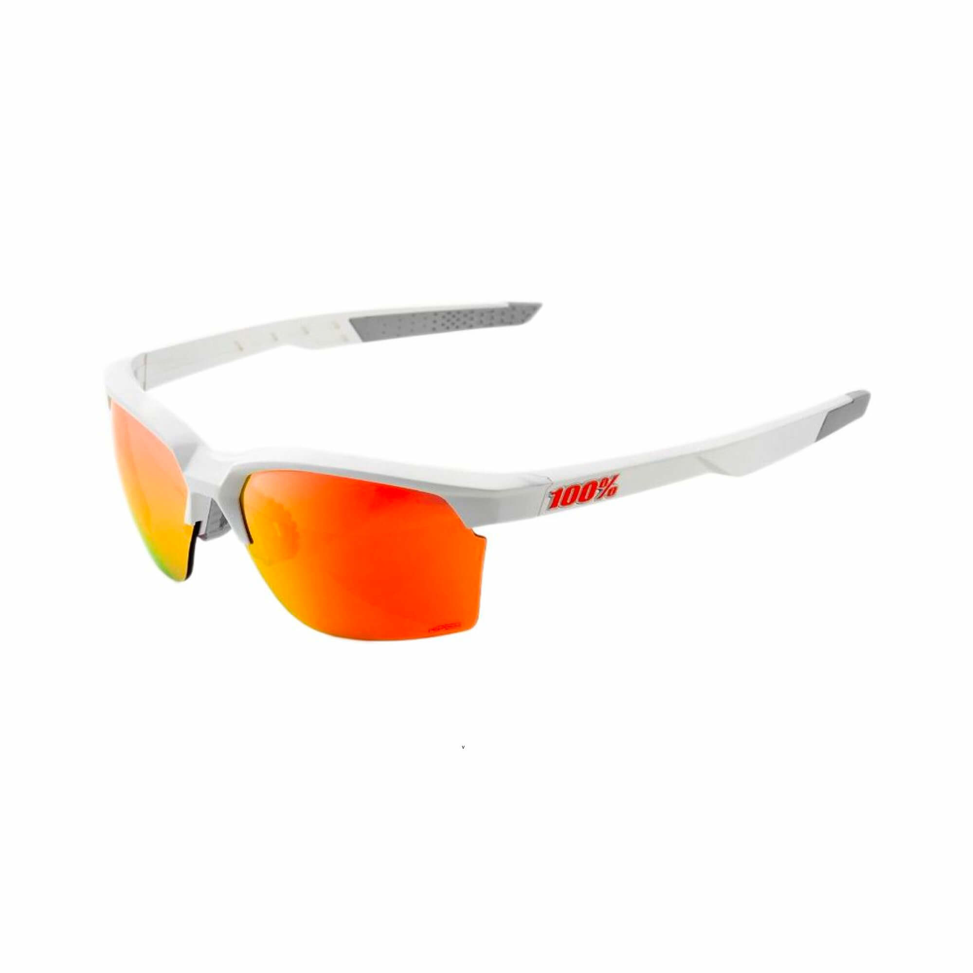 Sportcoupe Matte White Hiper Red Multilayer Mirror Lens-1