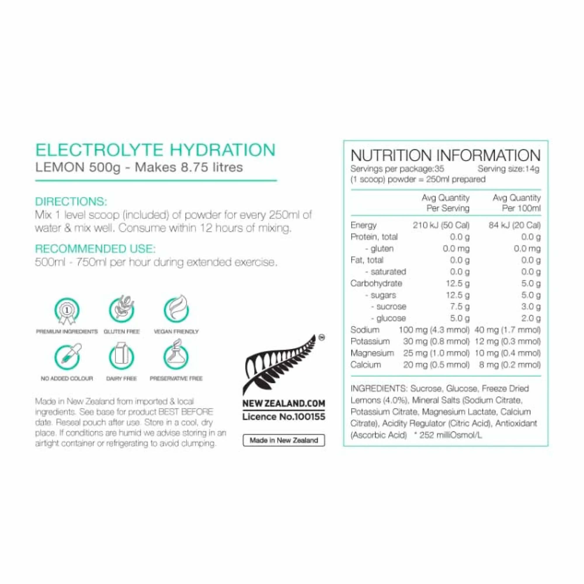 Electrolyte Hydration 500g-6