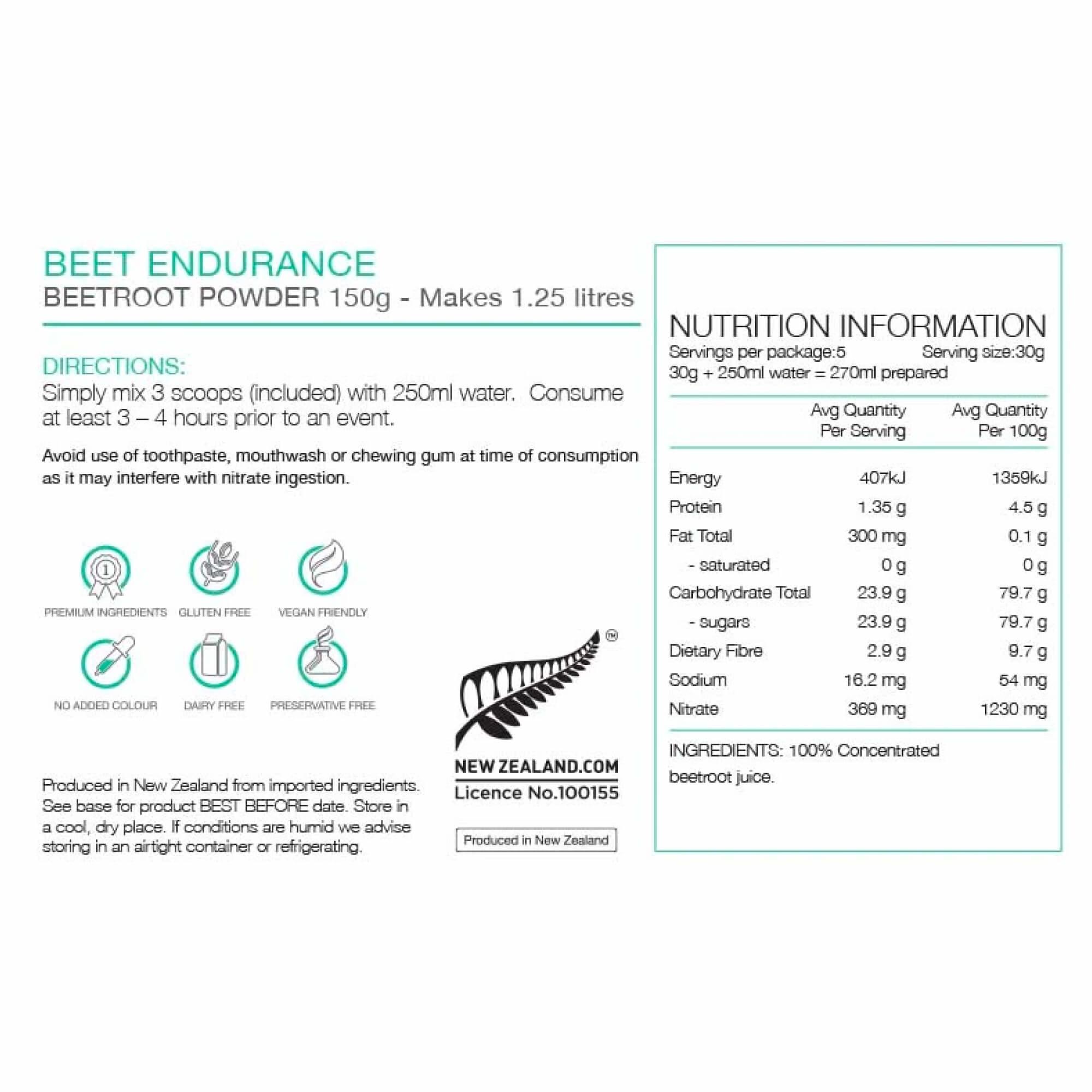 Endurance Beet 150G-4
