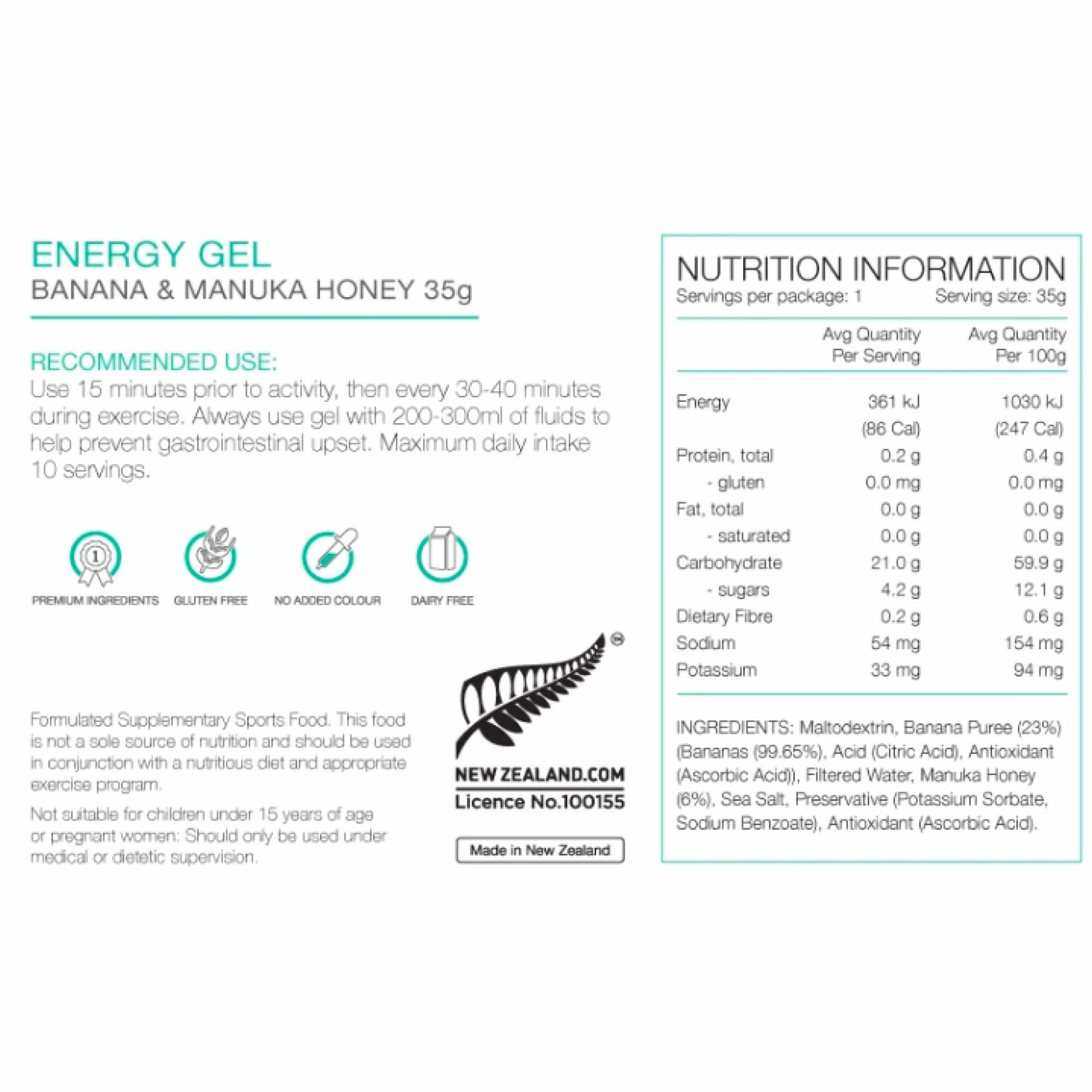 Energy Gel 35g-12