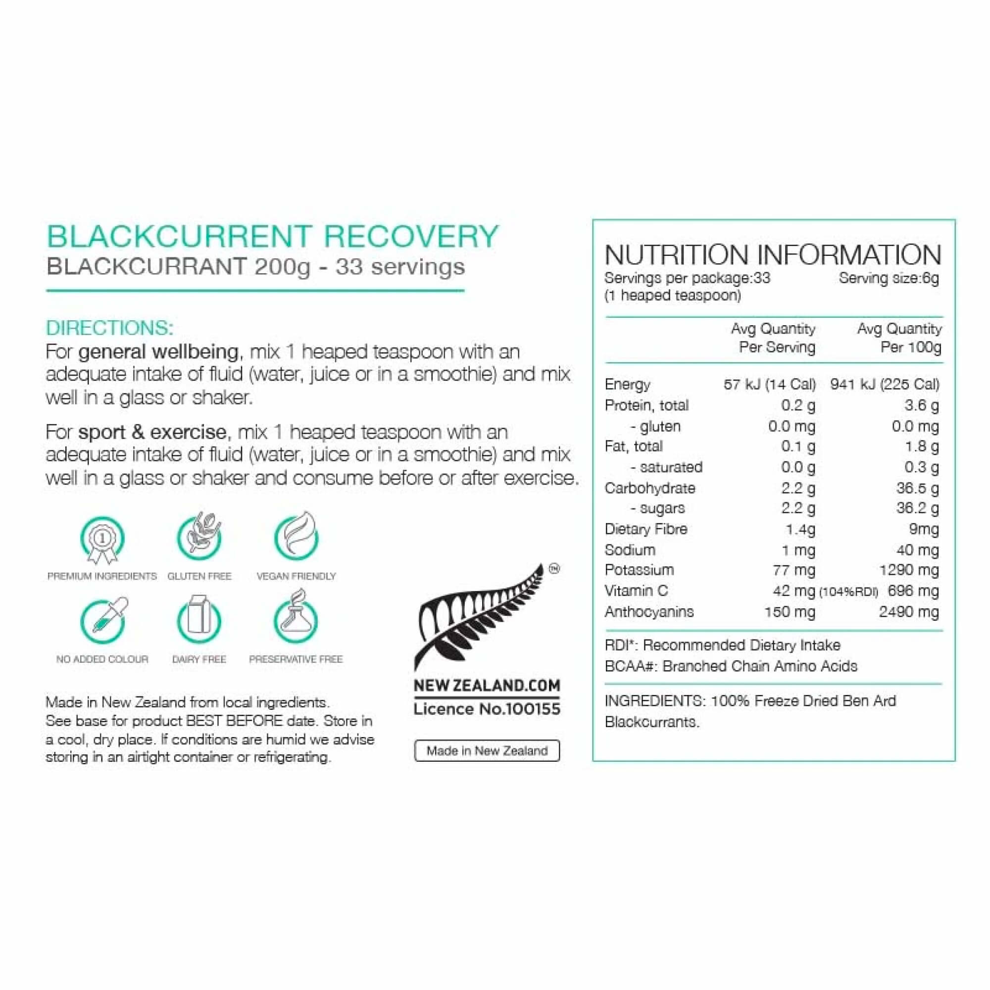 Recovery Blackcurrent 200G-5