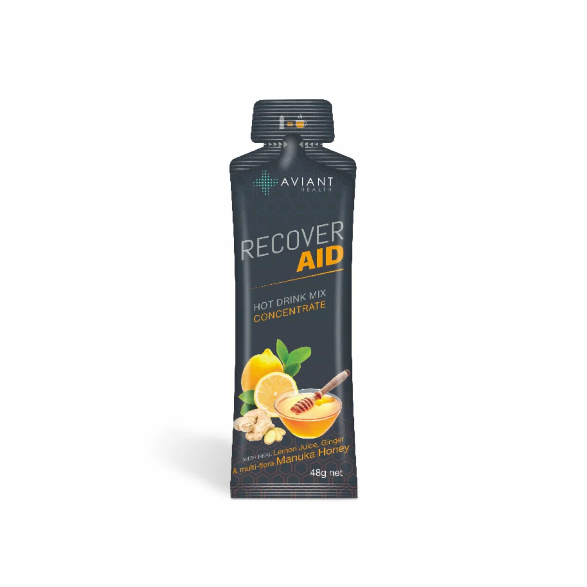 Aviant Recover Aid - Manuka Honey, Lemon & Ginger Drink Mix 48g  Single-1