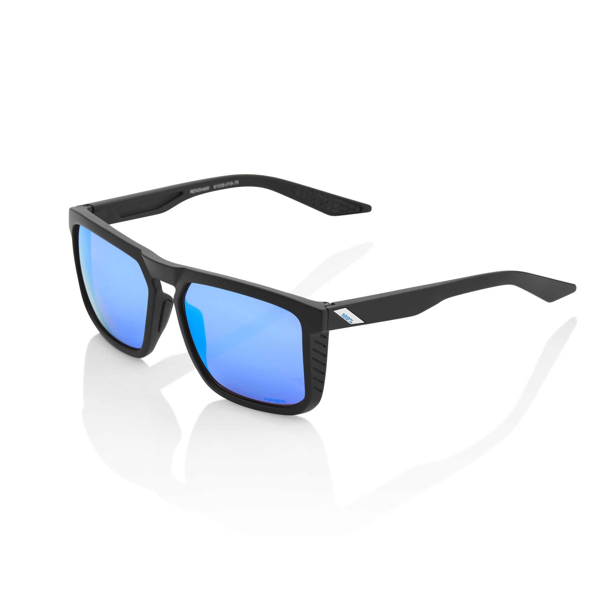 Renshaw Matte Black Hiper Blue Multilayer Mirror Lens-1