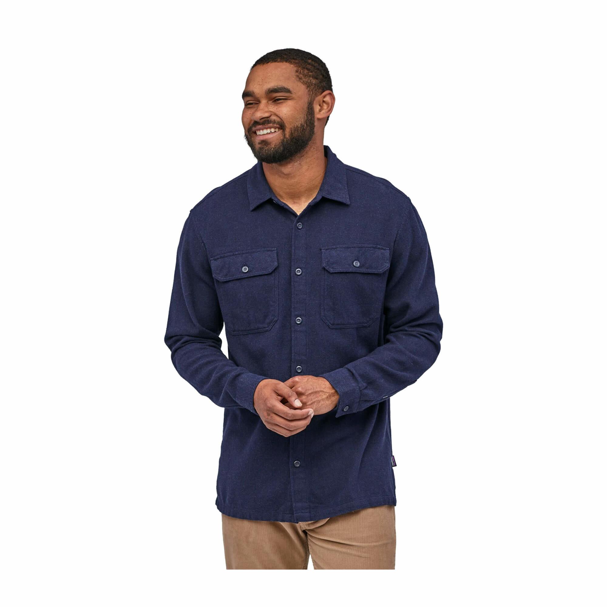 Men's Long Sleeve Fjord Flannel Shirt-9