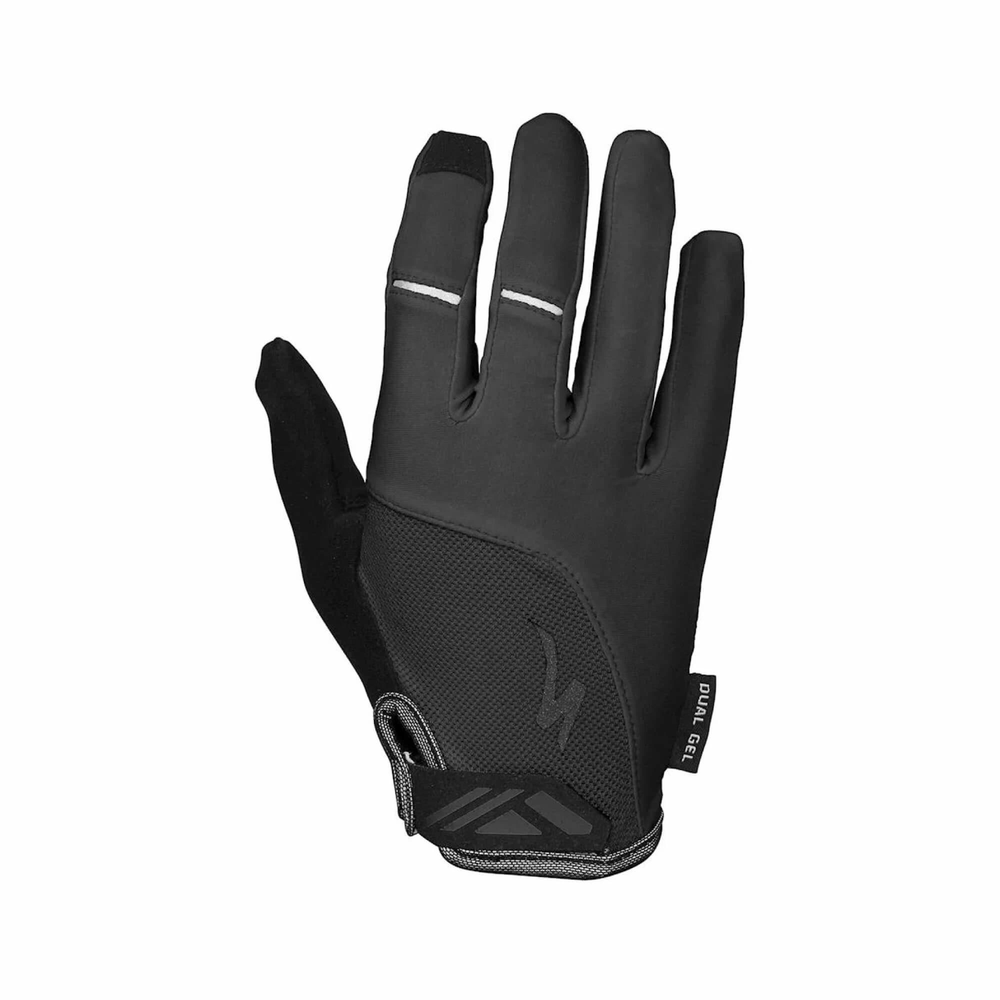 Body Geometry Dual Gel Women's Glove Long Fingers Black-1