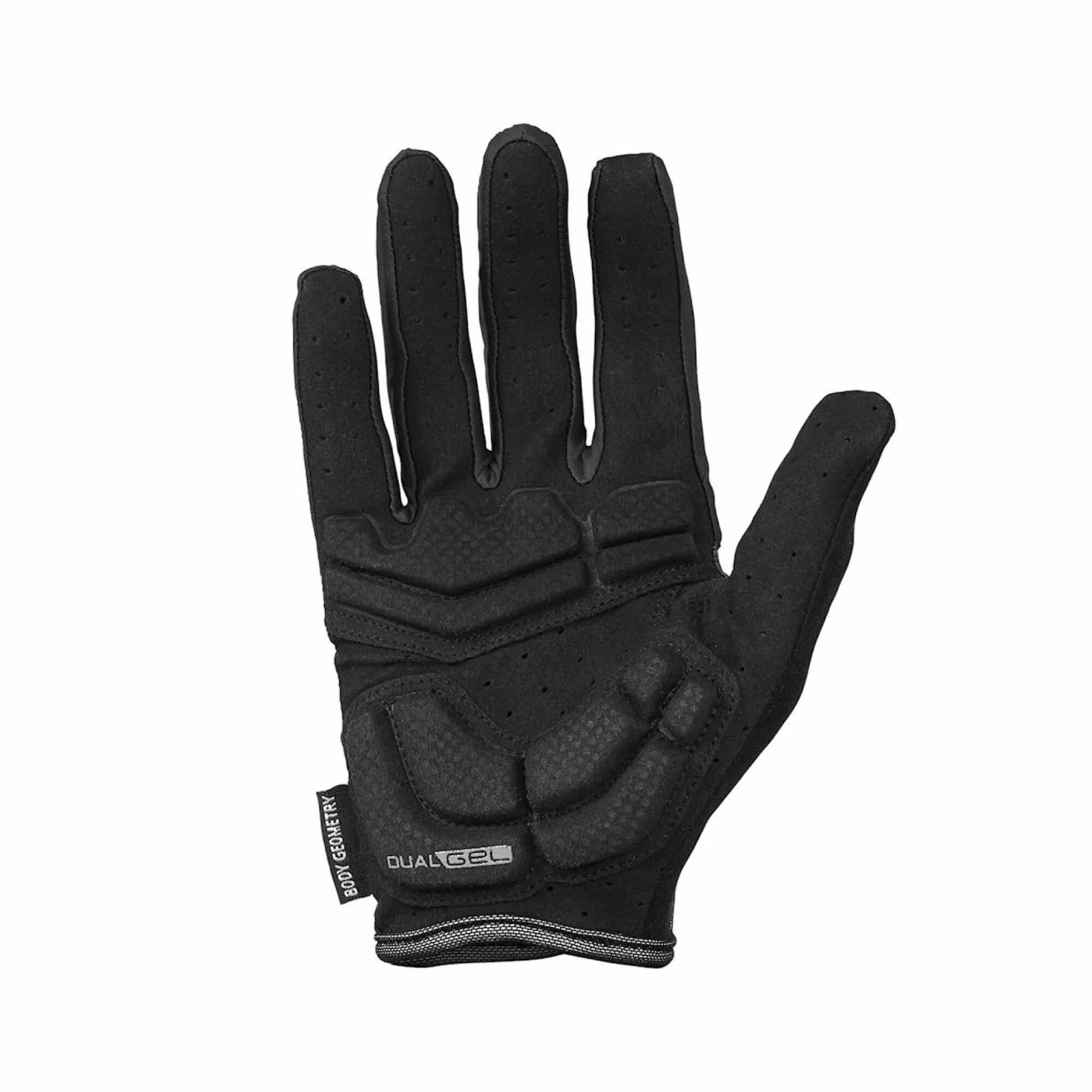 Body Geometry Dual Gel Women's Glove Long Fingers Black-2