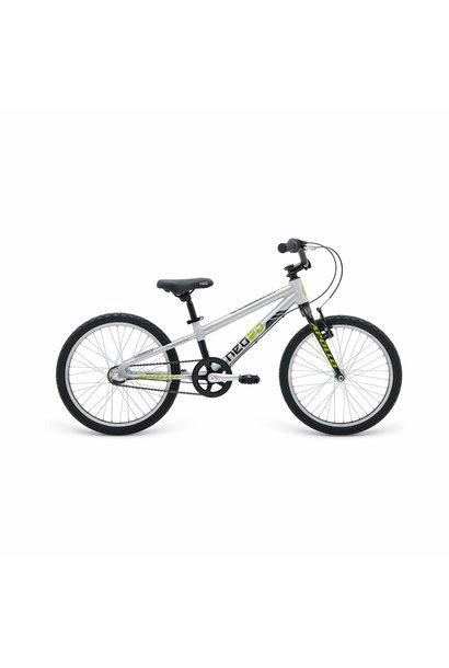Boys Bike 20 3I Brushed Alloy/Black/Lime (3 Speed Internal)