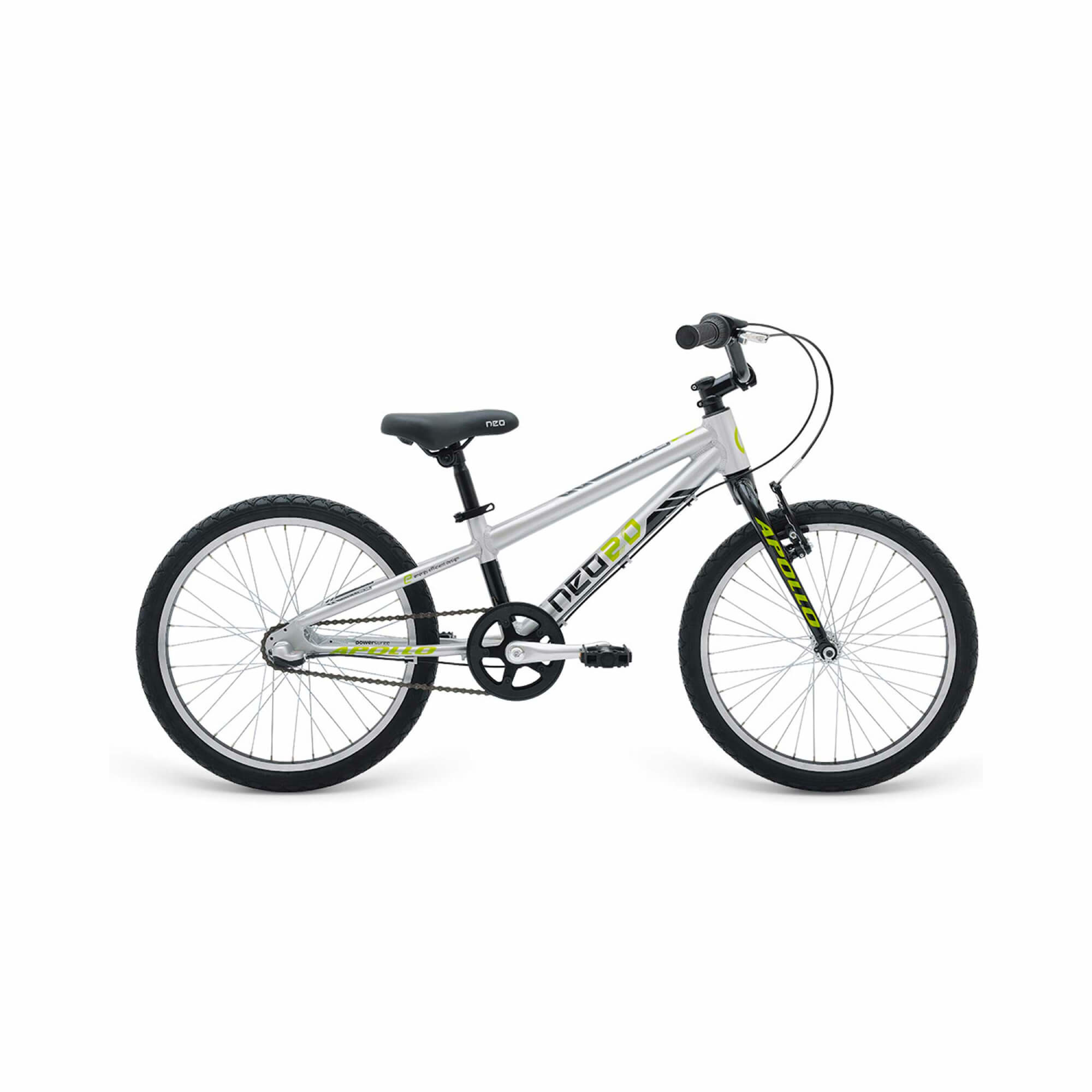 Boys Bike 20 3I Brushed Alloy/Black/Lime (3 Speed Internal)-1