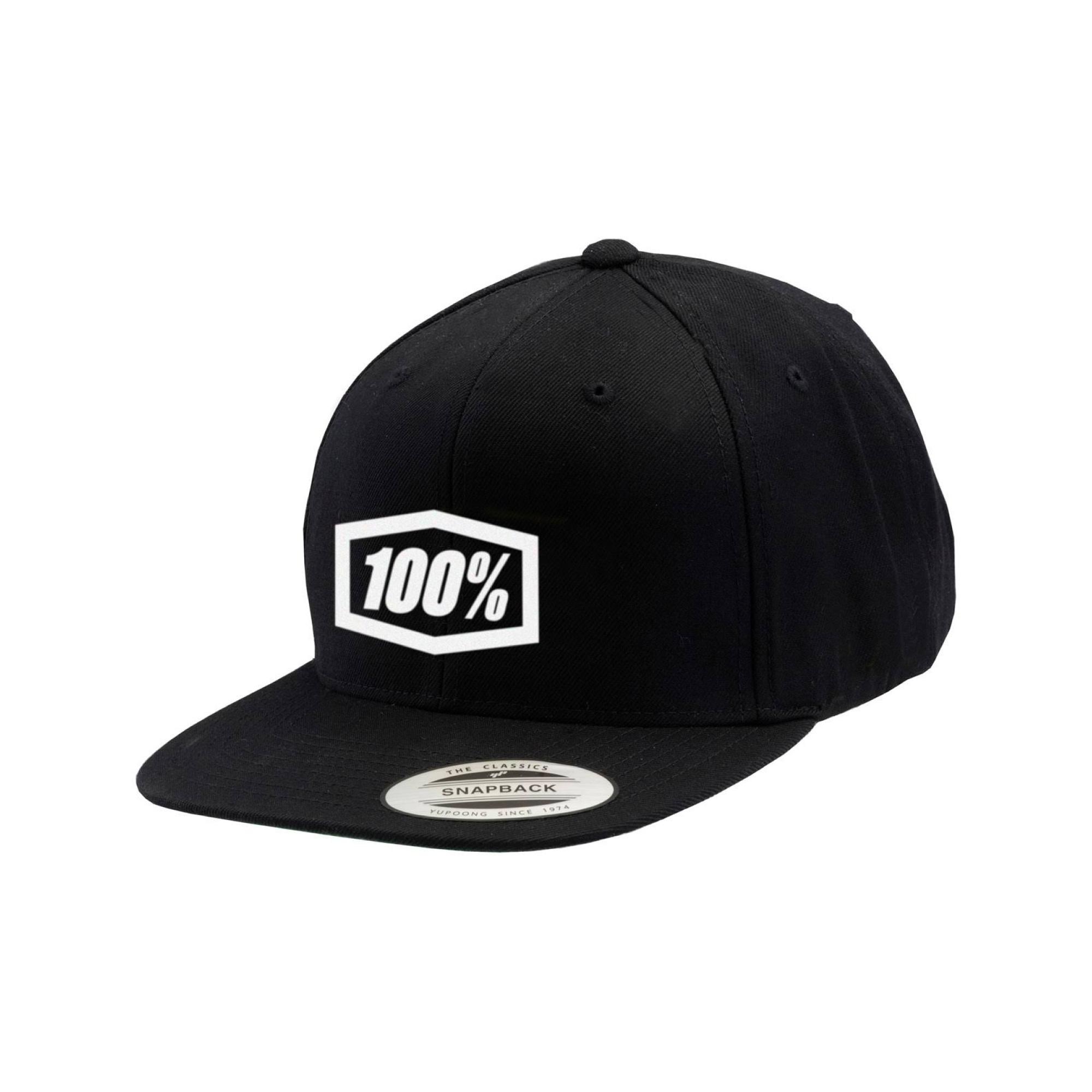 Essential Snapback Hat Black Youth-1