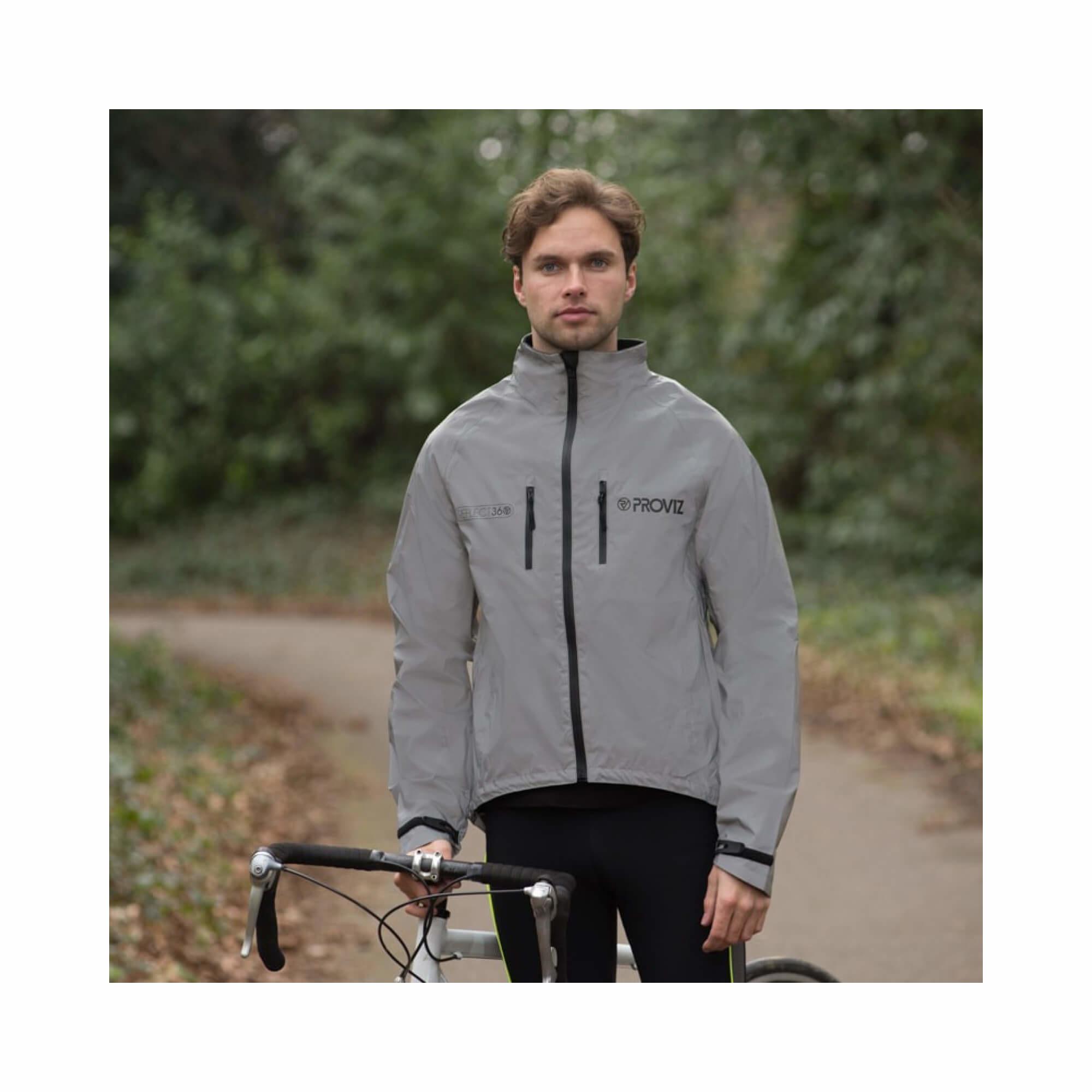 Jacket Cycling 360Reflect Proviz Storm Proof Mens Size X-Small-2