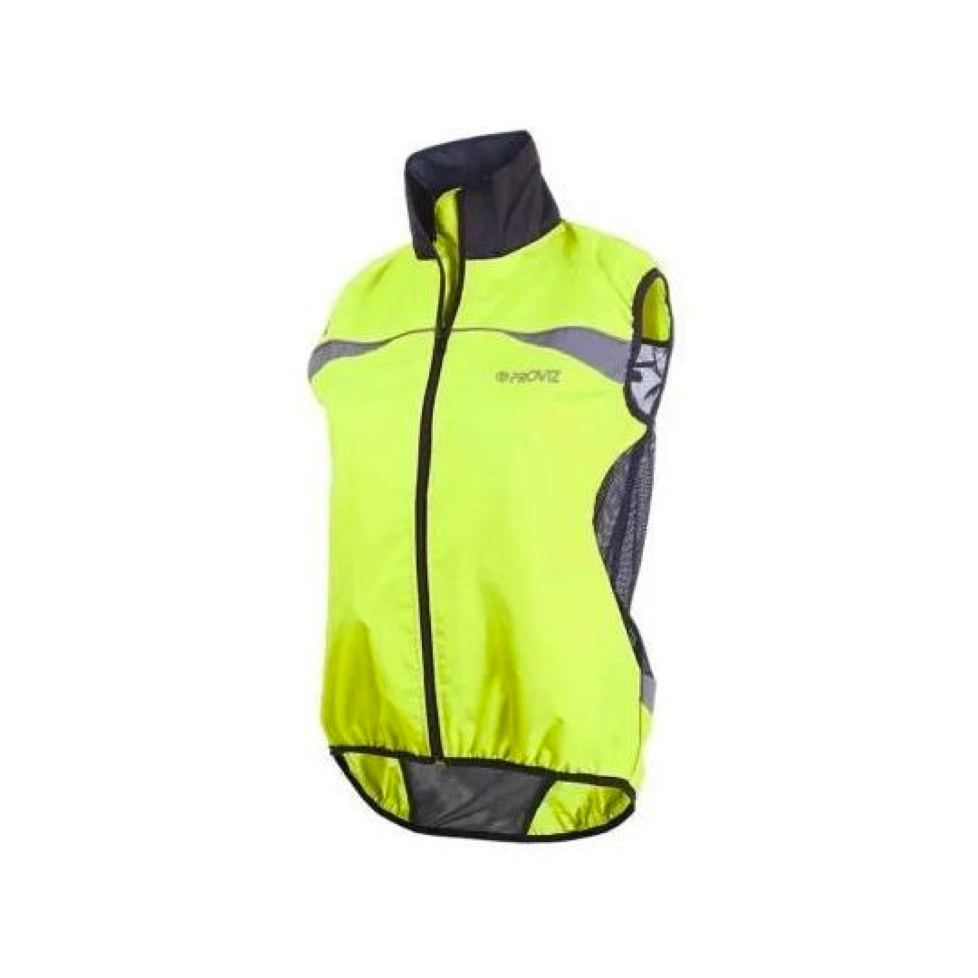 Gilet- Proviz High Visibility Yellow Wind Vest Womens Fit Size 12 Pv251-1