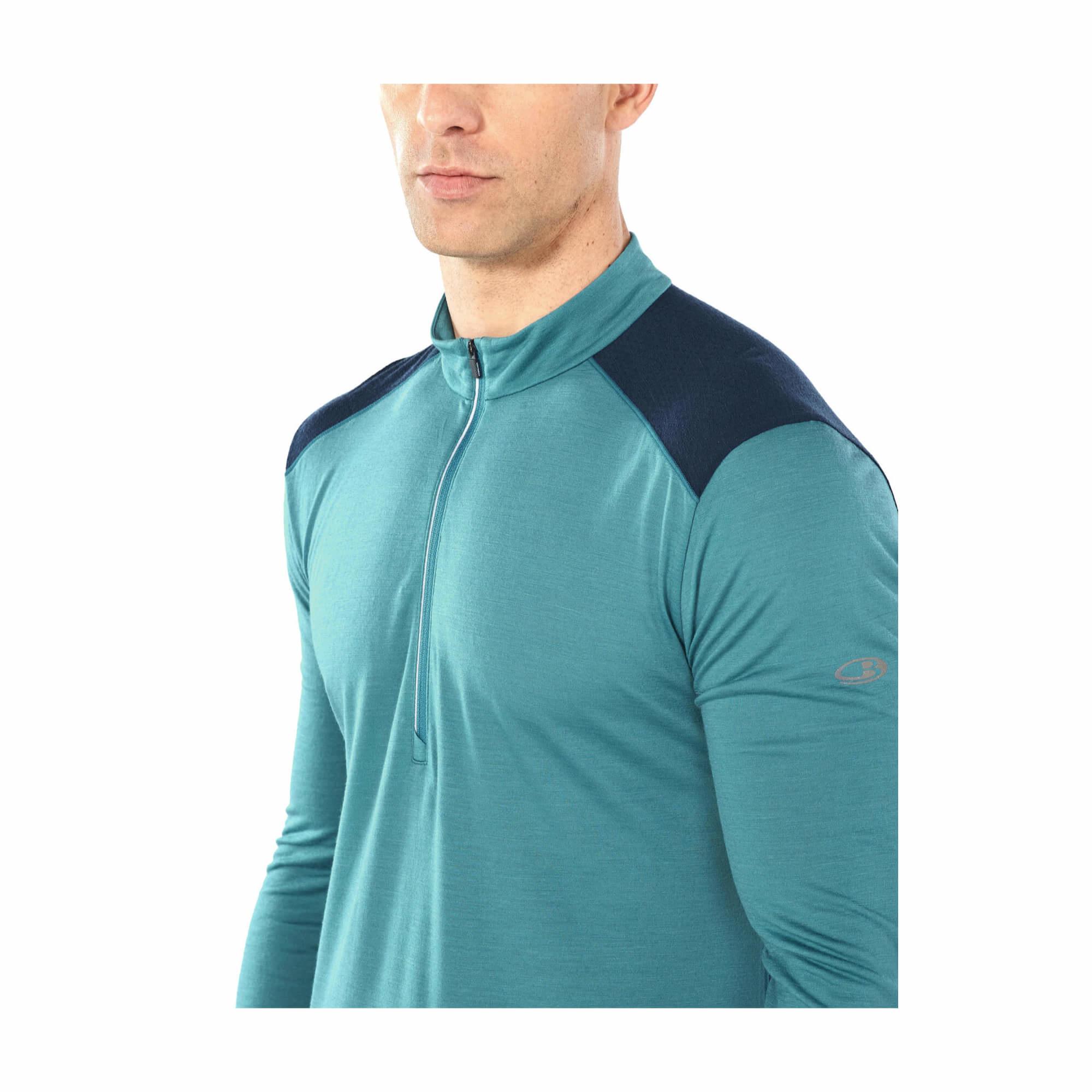 Men's Cool-Lite Merino Amplify Long Sleeve Half Zip Top-5