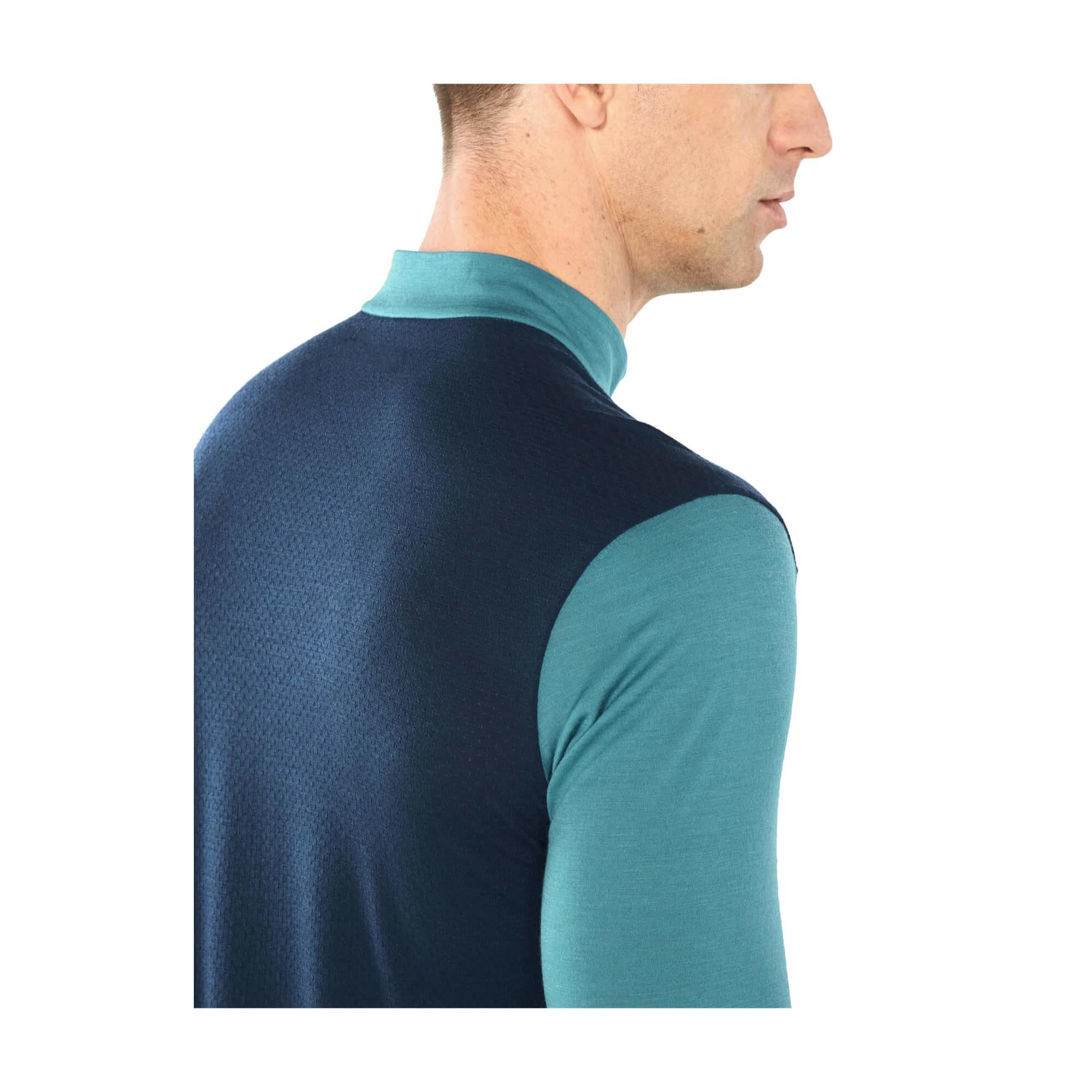 Men's Cool-Lite Merino Amplify Long Sleeve Half Zip Top-6