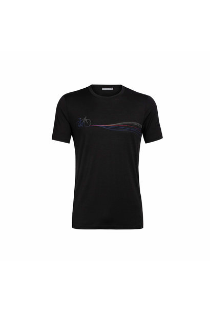 Men's Merino Tech Lite Short Sleeve Crewe T-Shirt Cadence Paths