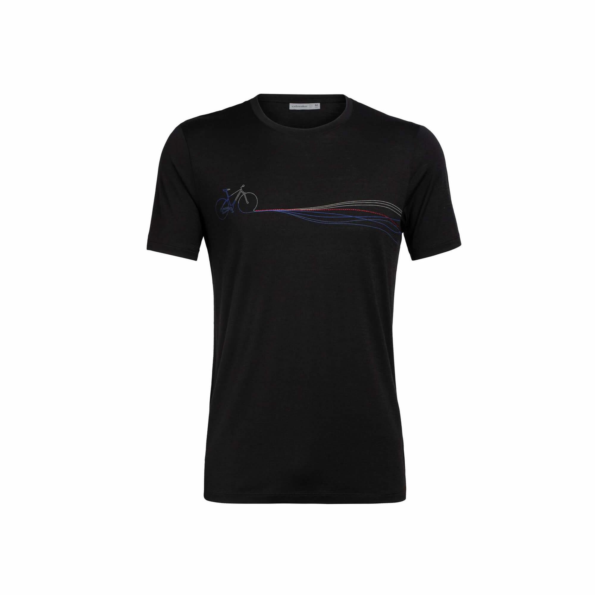 Men's Merino Tech Lite Short Sleeve Crewe T-Shirt Cadence Paths-1