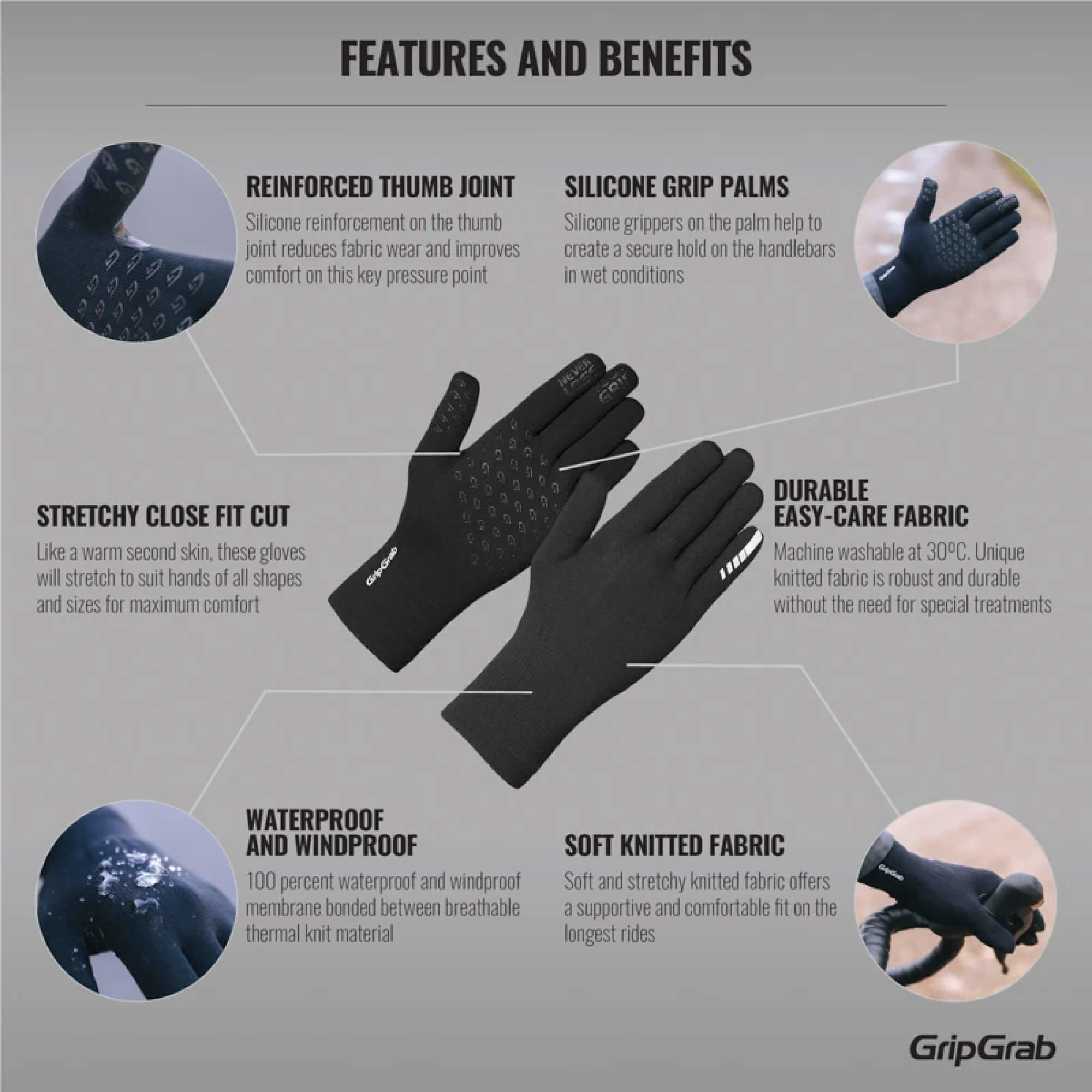 Waterproof Knitted Thermal Gloves-7