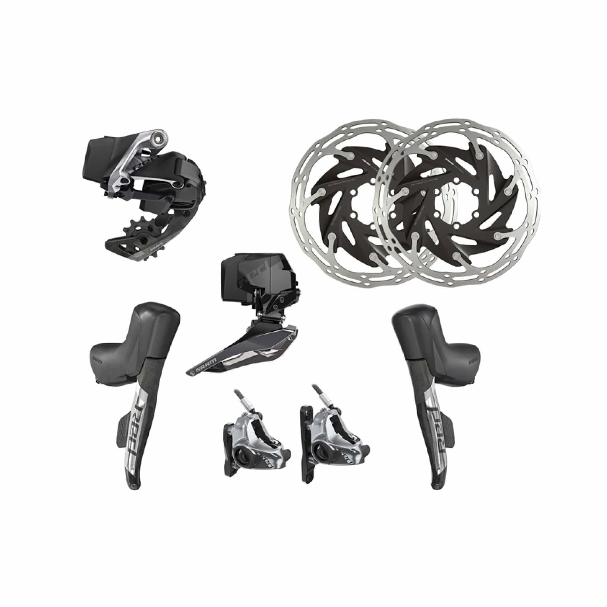 RED eTap AXS Upgrade Kit 2x Hydraulic 6 Bolt Disc Brake  Flat Mount-1