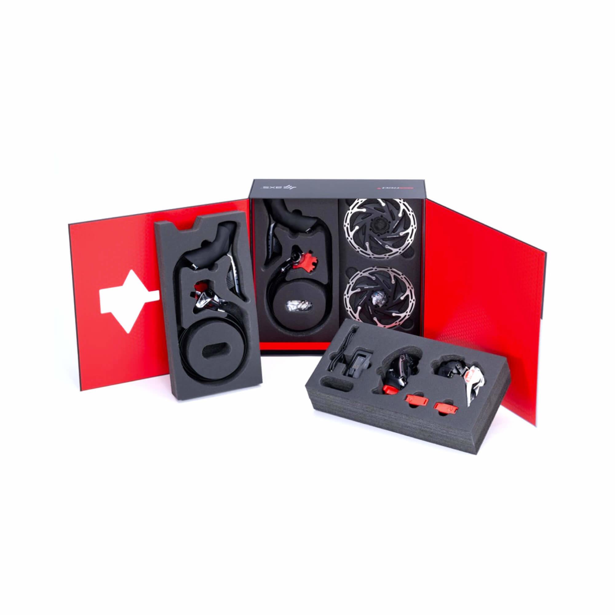 RED eTap AXS Upgrade Kit 2x Hydraulic 6 Bolt Disc Brake  Flat Mount-5