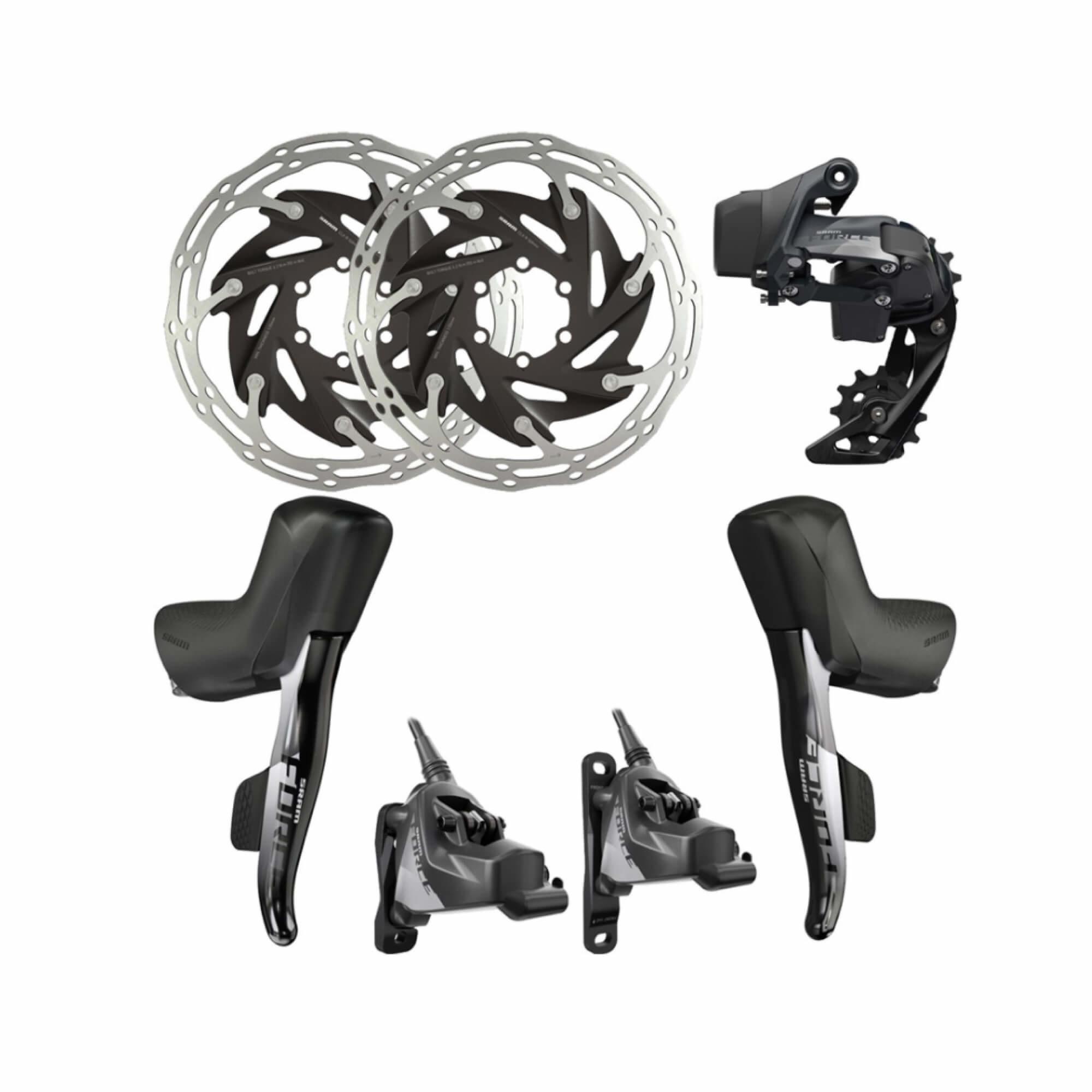 Force eTap AXS Upgrade Kit 1x Hydraulic 6 Bolt Disc Brake Flat Mount-1